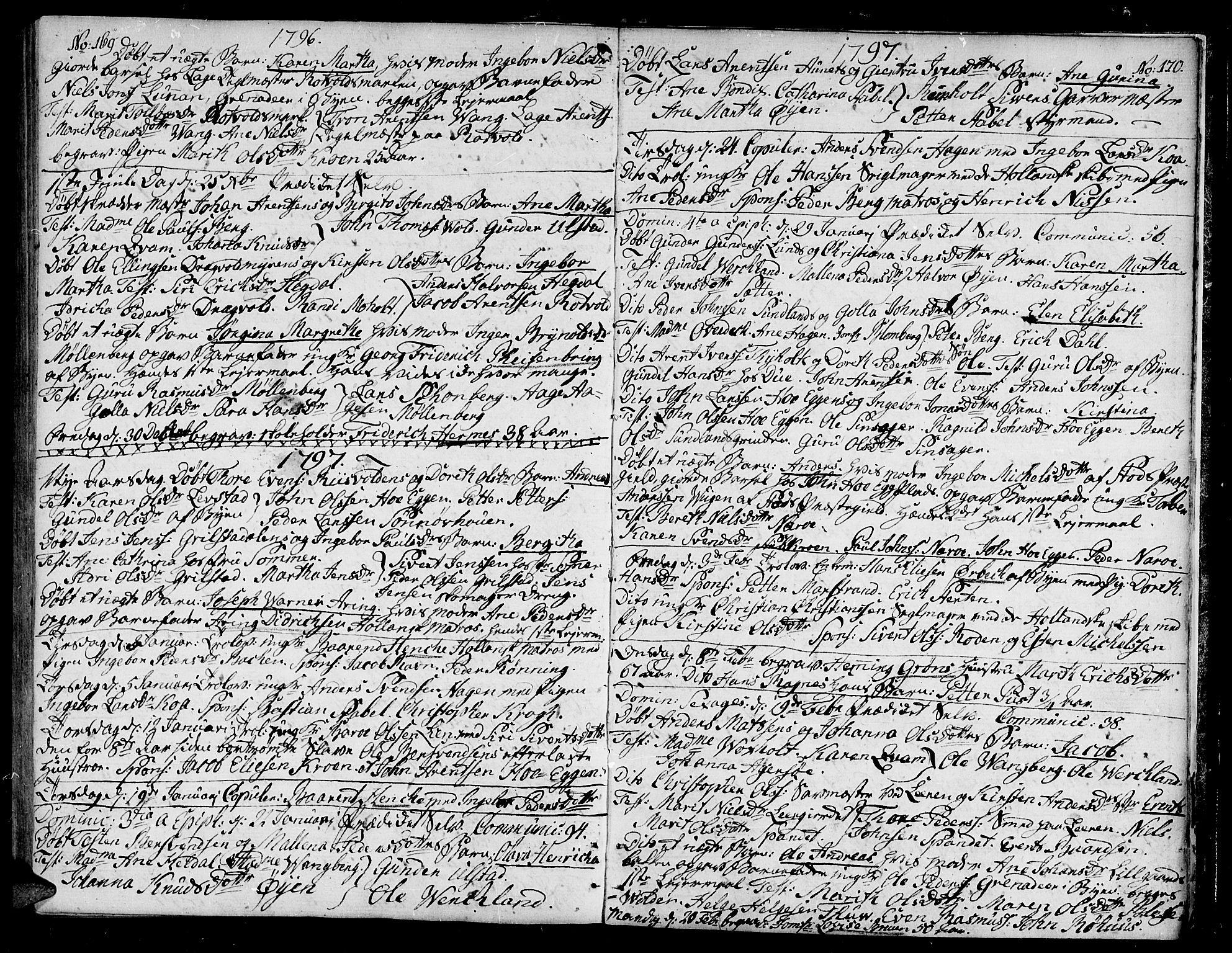 SAT, Ministerialprotokoller, klokkerbøker og fødselsregistre - Sør-Trøndelag, 604/L0180: Ministerialbok nr. 604A01, 1780-1797, s. 169-170