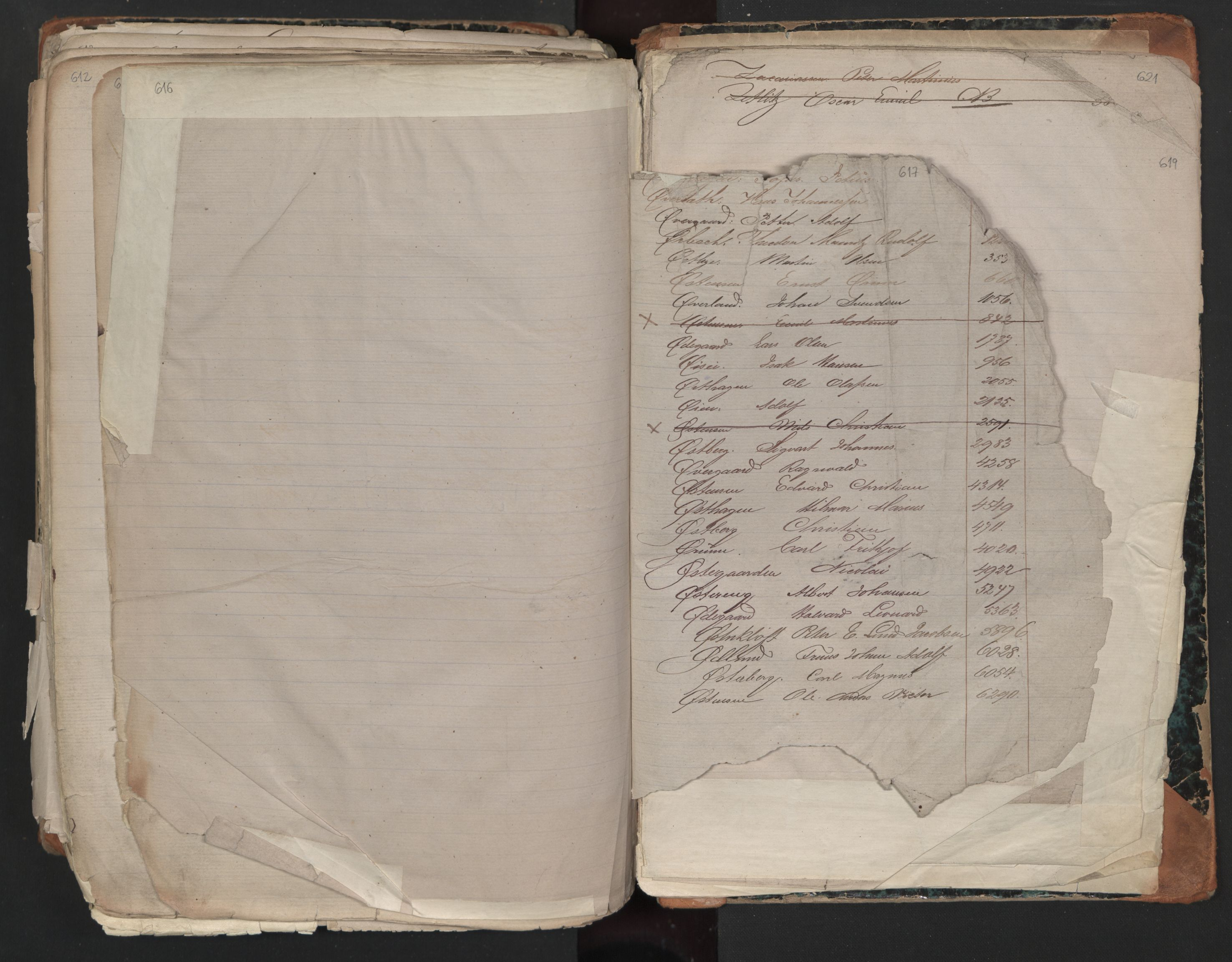 SAO, Oslo sjømannskontor, F/Fa/L0001: Register for Kristiania krets, 1866-1891, s. 616-617