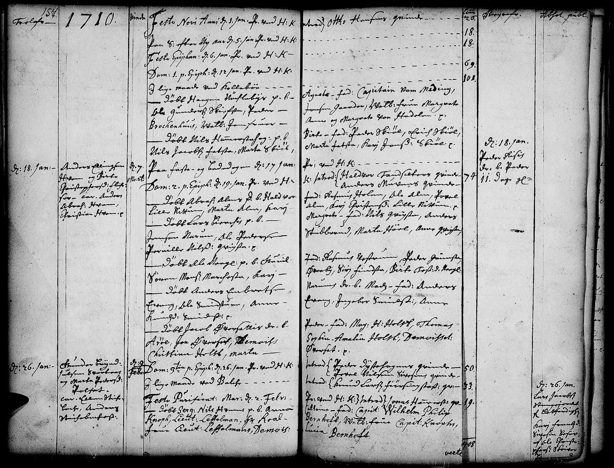 SAH, Toten prestekontor, Ministerialbok nr. 1, 1695-1713, s. 157