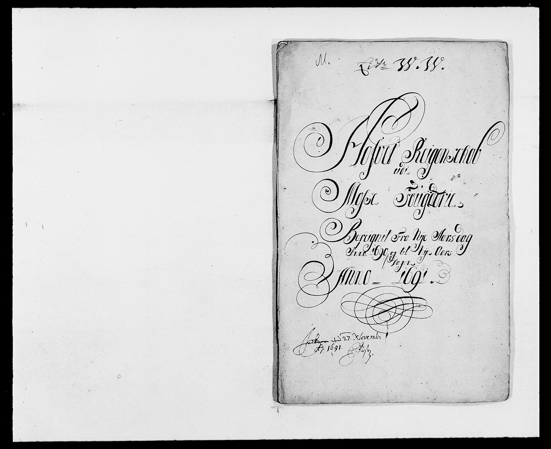 RA, Rentekammeret inntil 1814, Reviderte regnskaper, Fogderegnskap, R02/L0106: Fogderegnskap Moss og Verne kloster, 1688-1691, s. 273