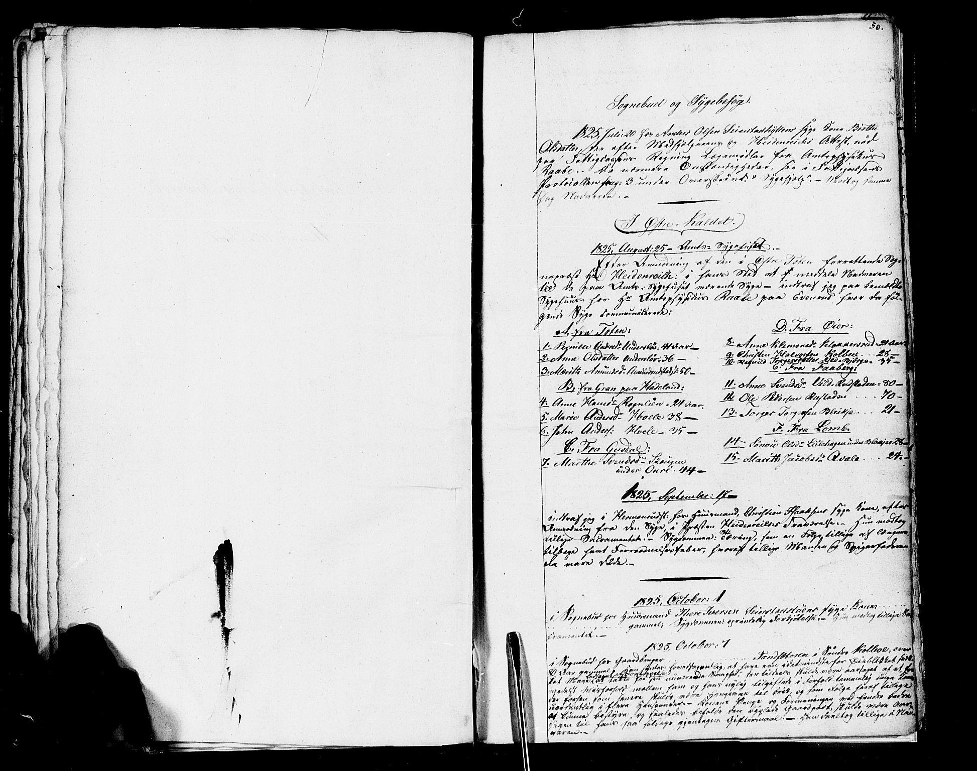 SAH, Vestre Toten prestekontor, Ministerialbok nr. 1, 1825-1826, s. 50