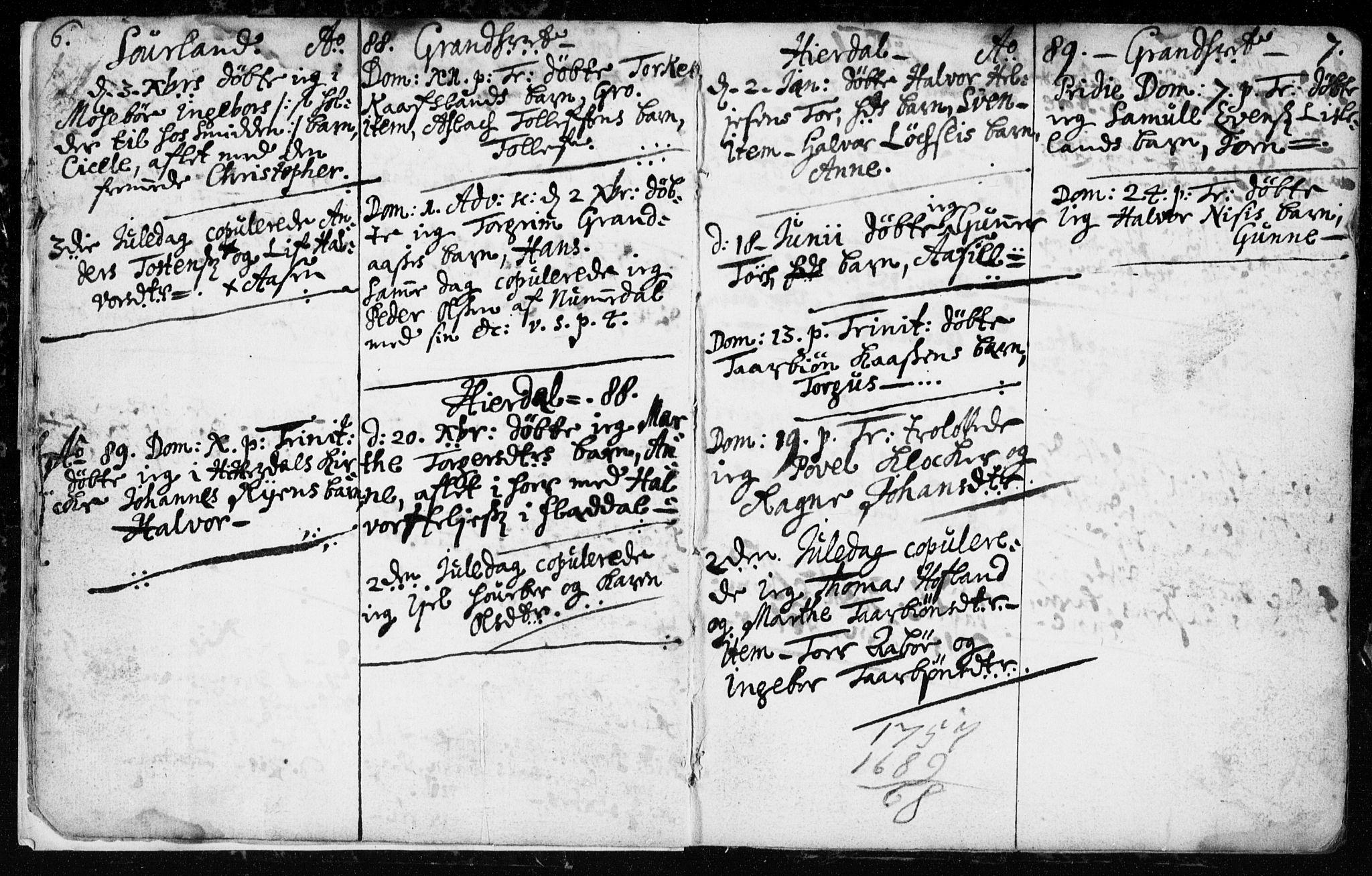 SAKO, Hjartdal kirkebøker, F/Fa/L0001: Ministerialbok nr. I 1, 1685-1714, s. 6-7