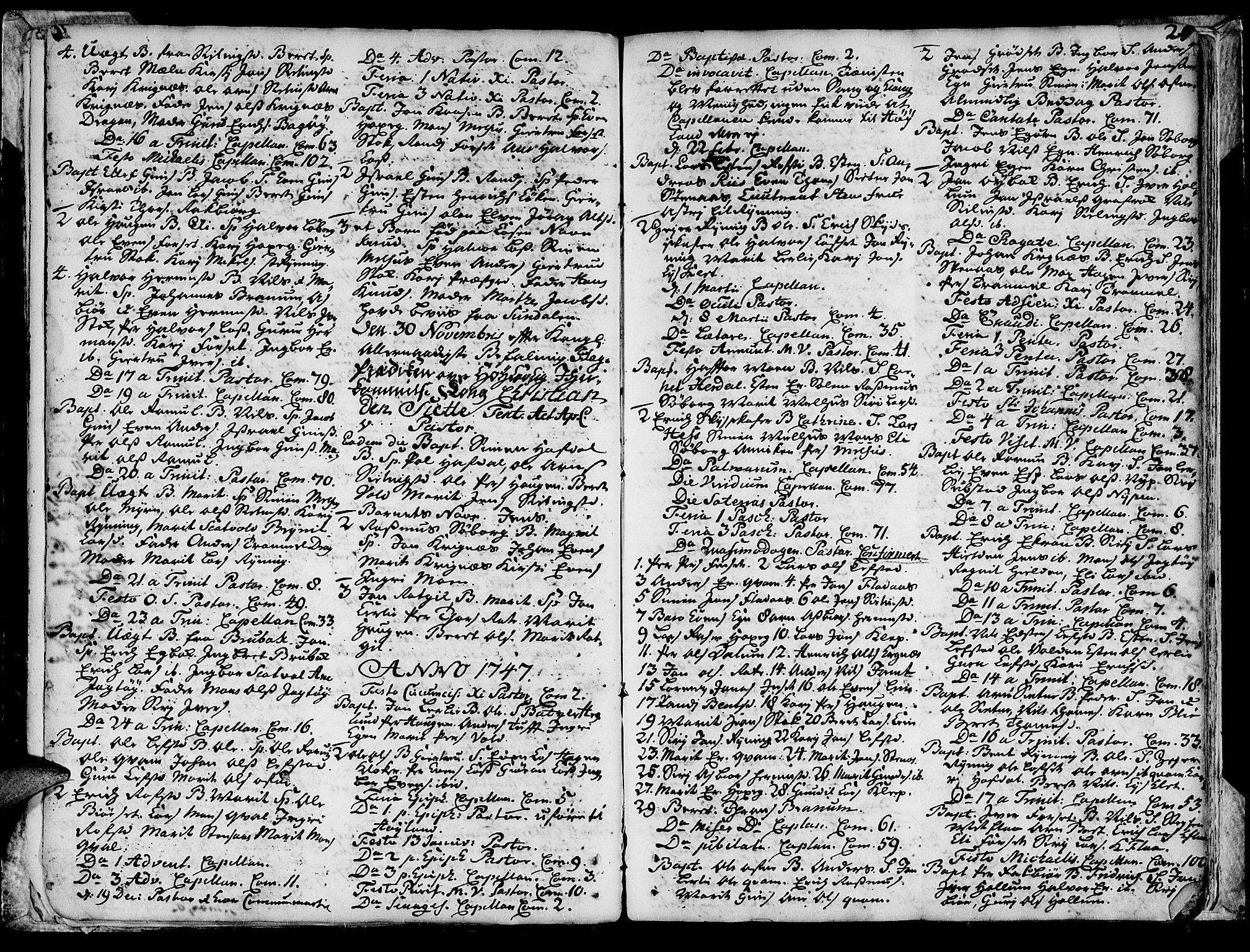 SAT, Ministerialprotokoller, klokkerbøker og fødselsregistre - Sør-Trøndelag, 691/L1057: Ministerialbok nr. 691A01 /1, 1740-1767, s. 21