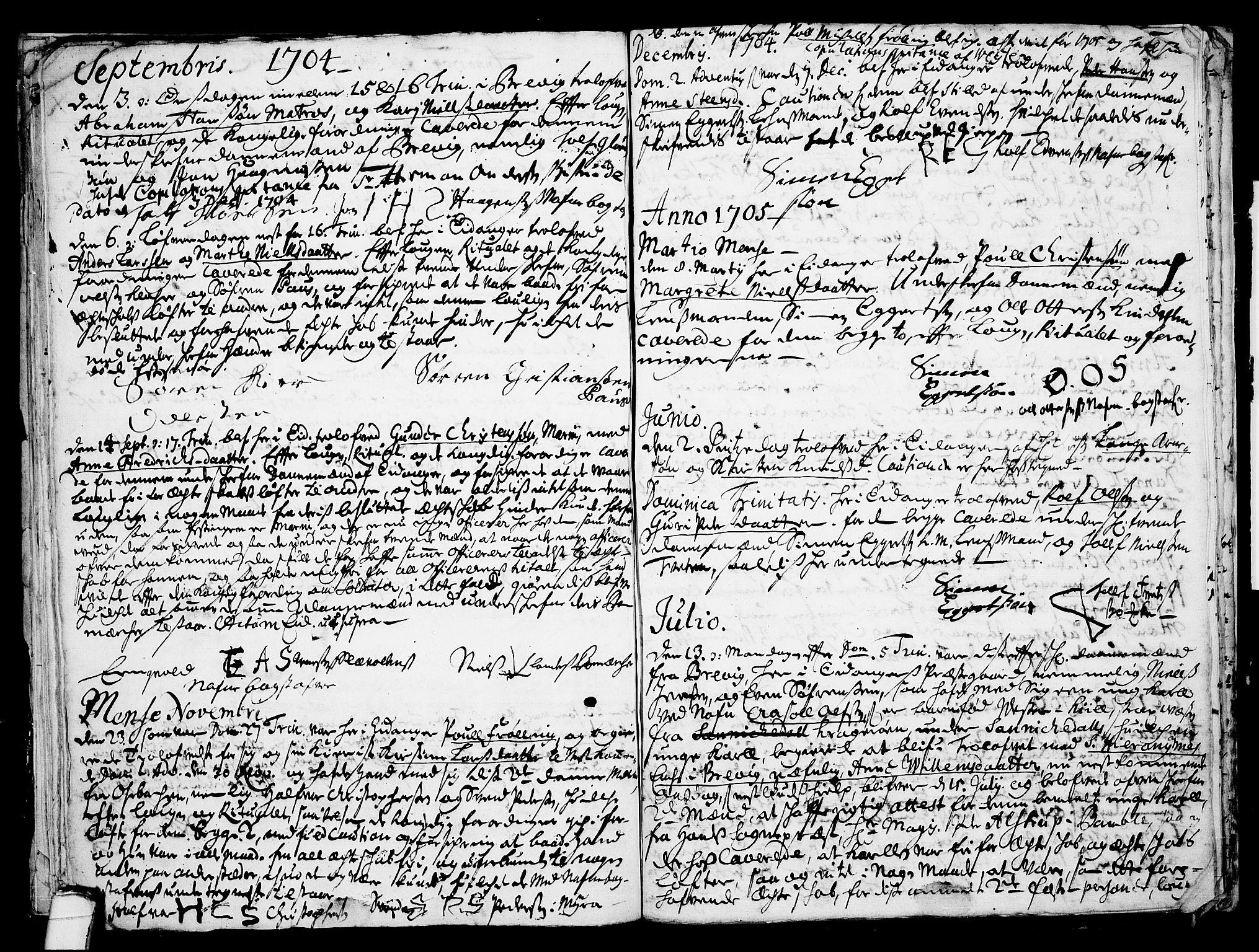 SAKO, Eidanger kirkebøker, F/Fa/L0001: Ministerialbok nr. 1, 1695-1717, s. 23