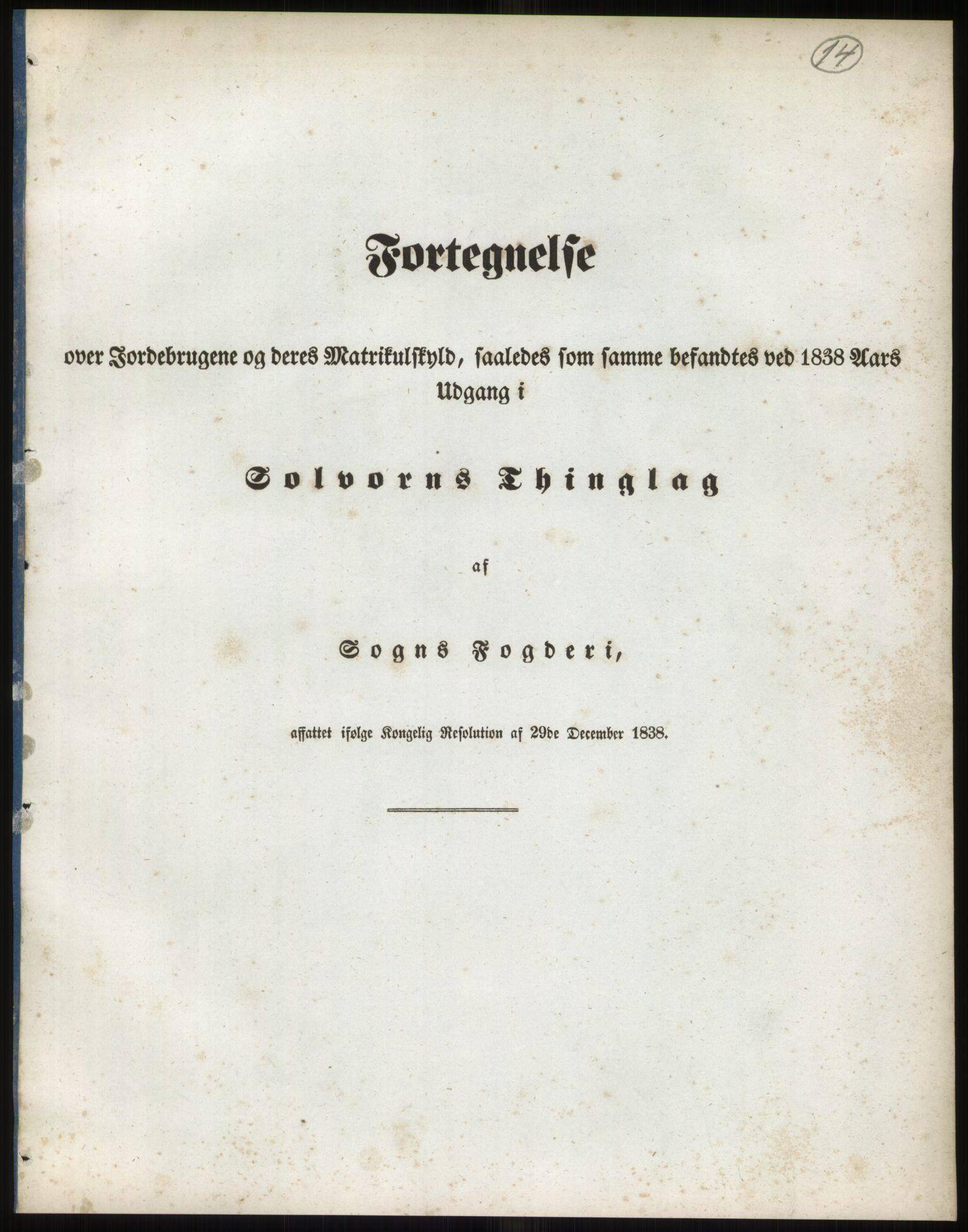 RA, 1838-matrikkelen (publikasjon)*, 1838, s. 14