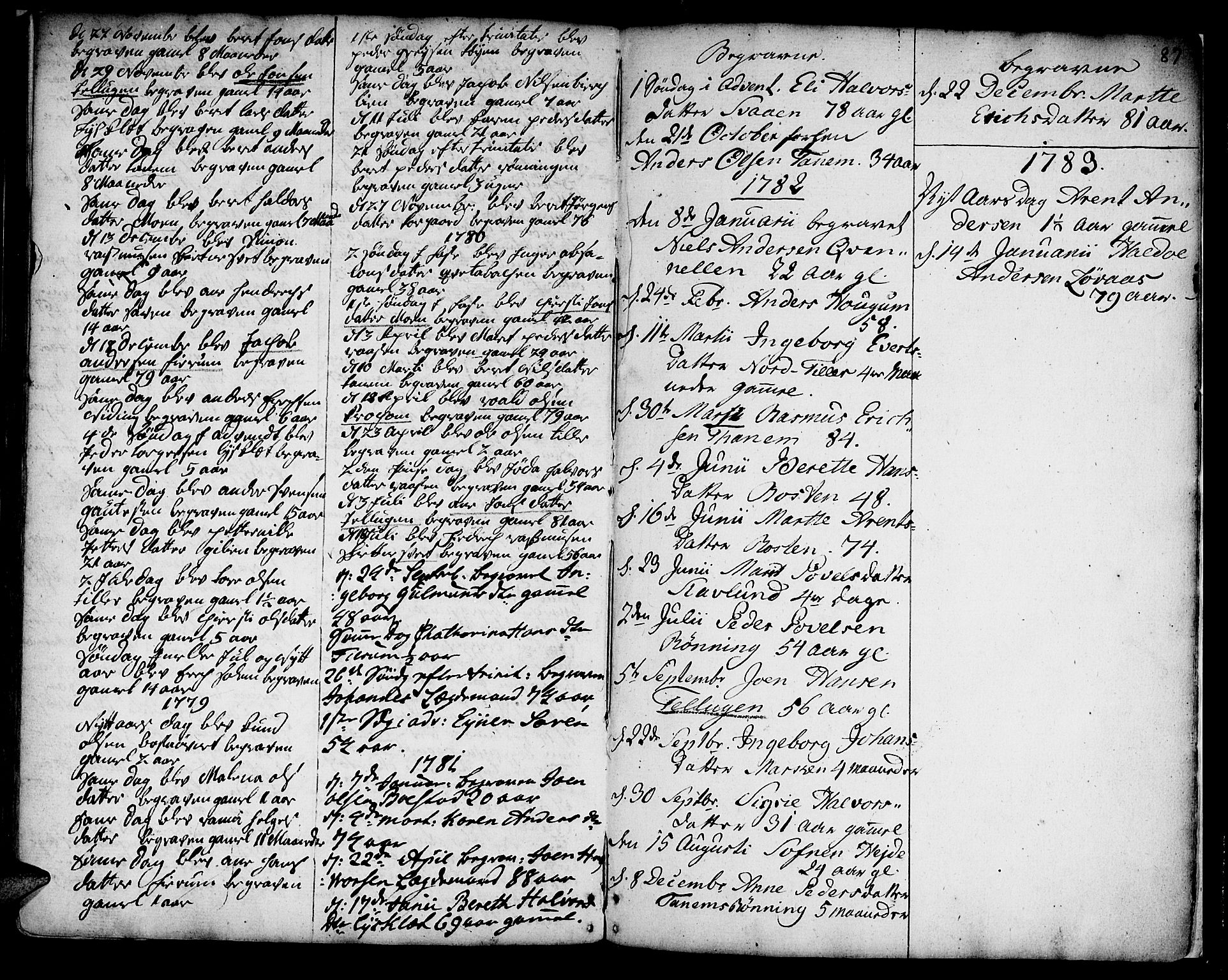 SAT, Ministerialprotokoller, klokkerbøker og fødselsregistre - Sør-Trøndelag, 618/L0437: Ministerialbok nr. 618A02, 1749-1782, s. 87