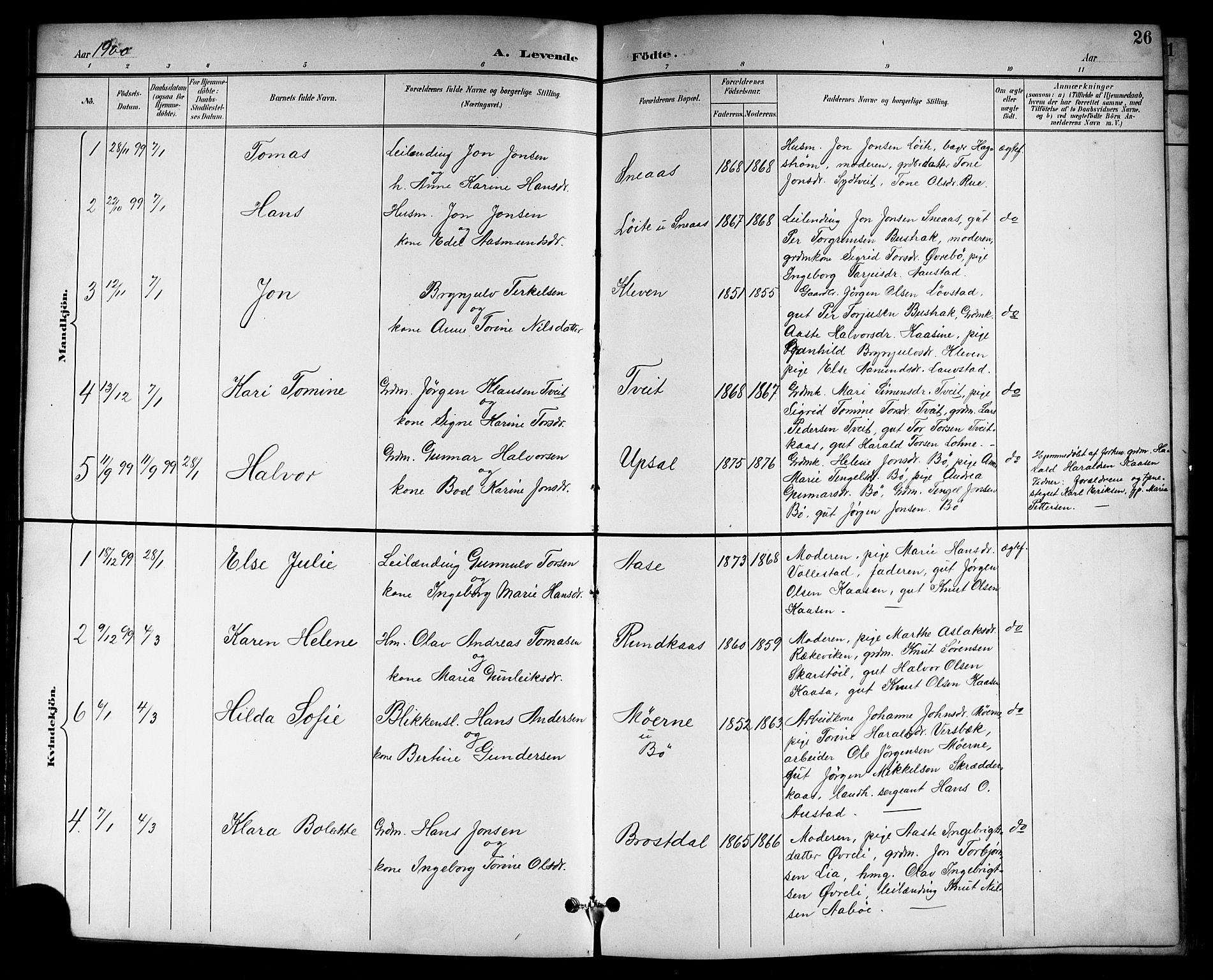 SAKO, Drangedal kirkebøker, G/Gb/L0002: Klokkerbok nr. II 2, 1895-1918, s. 26