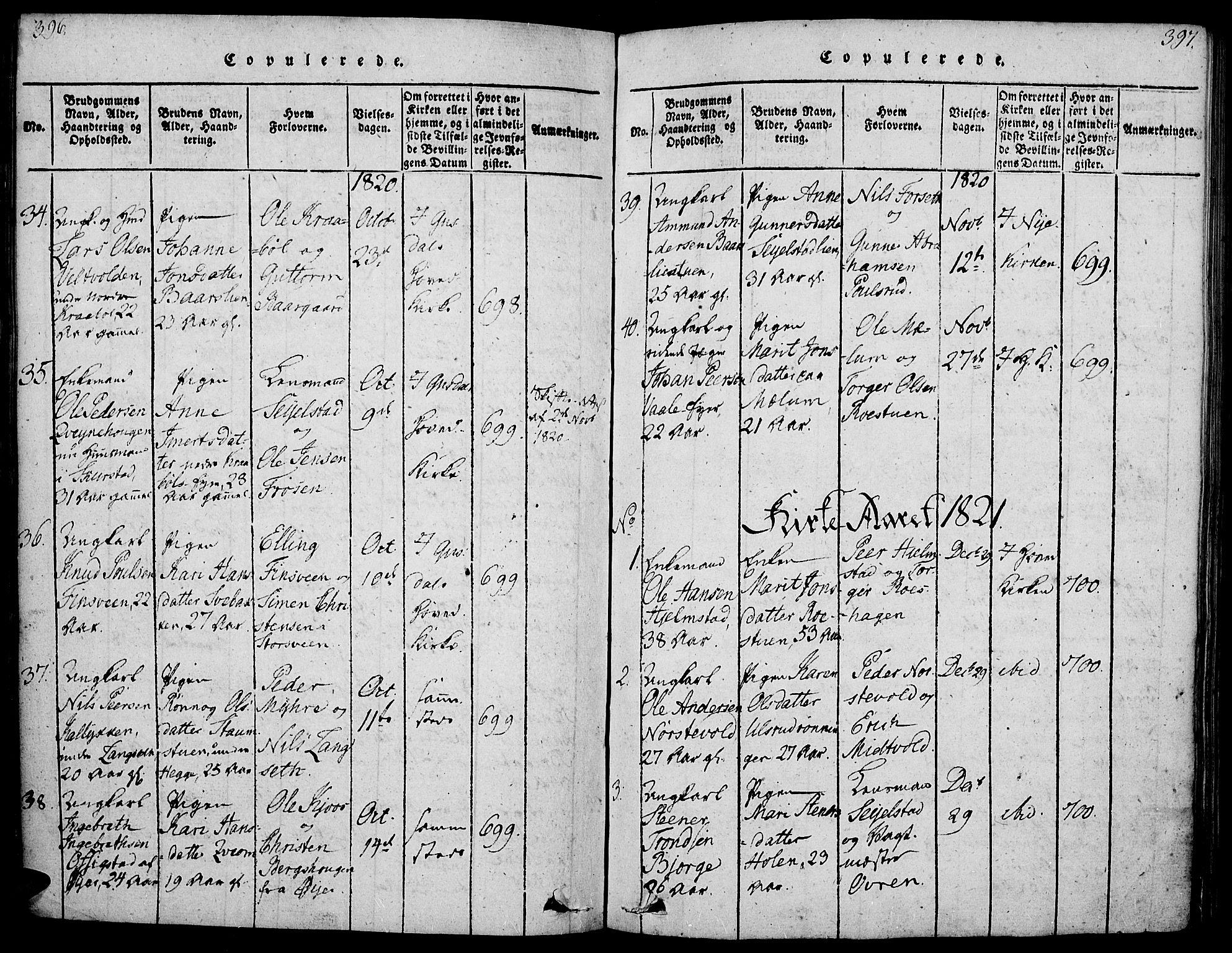 SAH, Gausdal prestekontor, Ministerialbok nr. 5, 1817-1829, s. 396-397