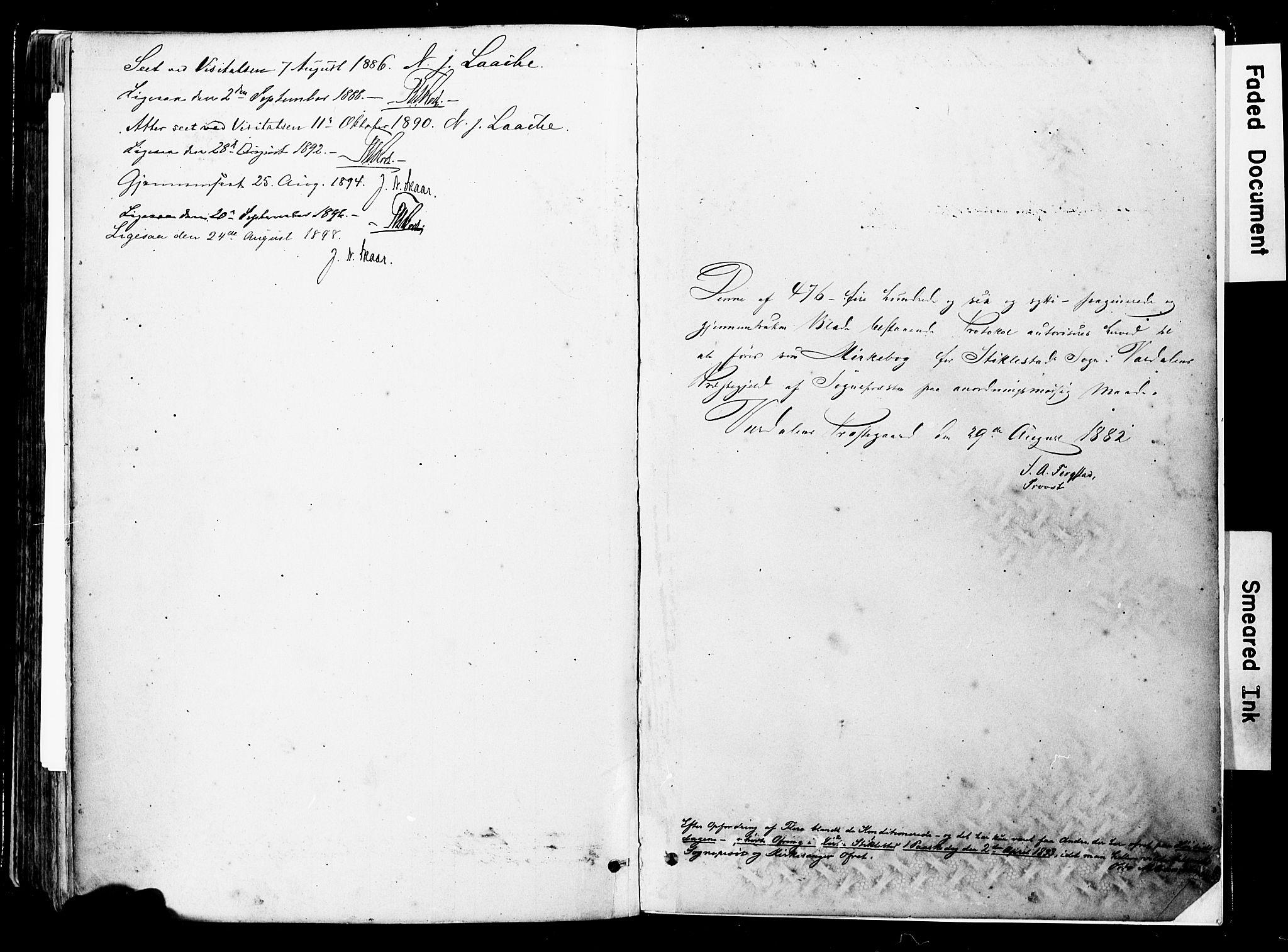 SAT, Ministerialprotokoller, klokkerbøker og fødselsregistre - Nord-Trøndelag, 723/L0244: Ministerialbok nr. 723A13, 1881-1899