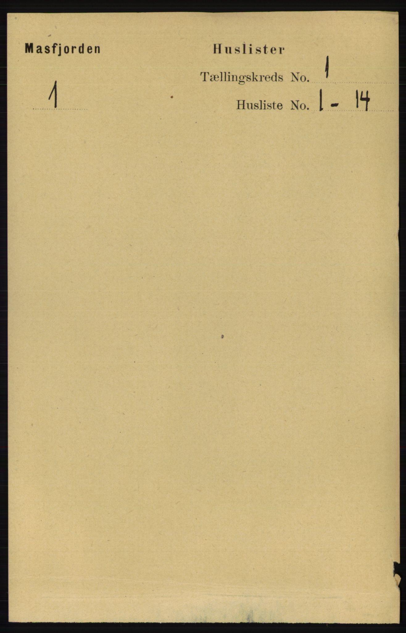 RA, Folketelling 1891 for 1266 Masfjorden herred, 1891, s. 33
