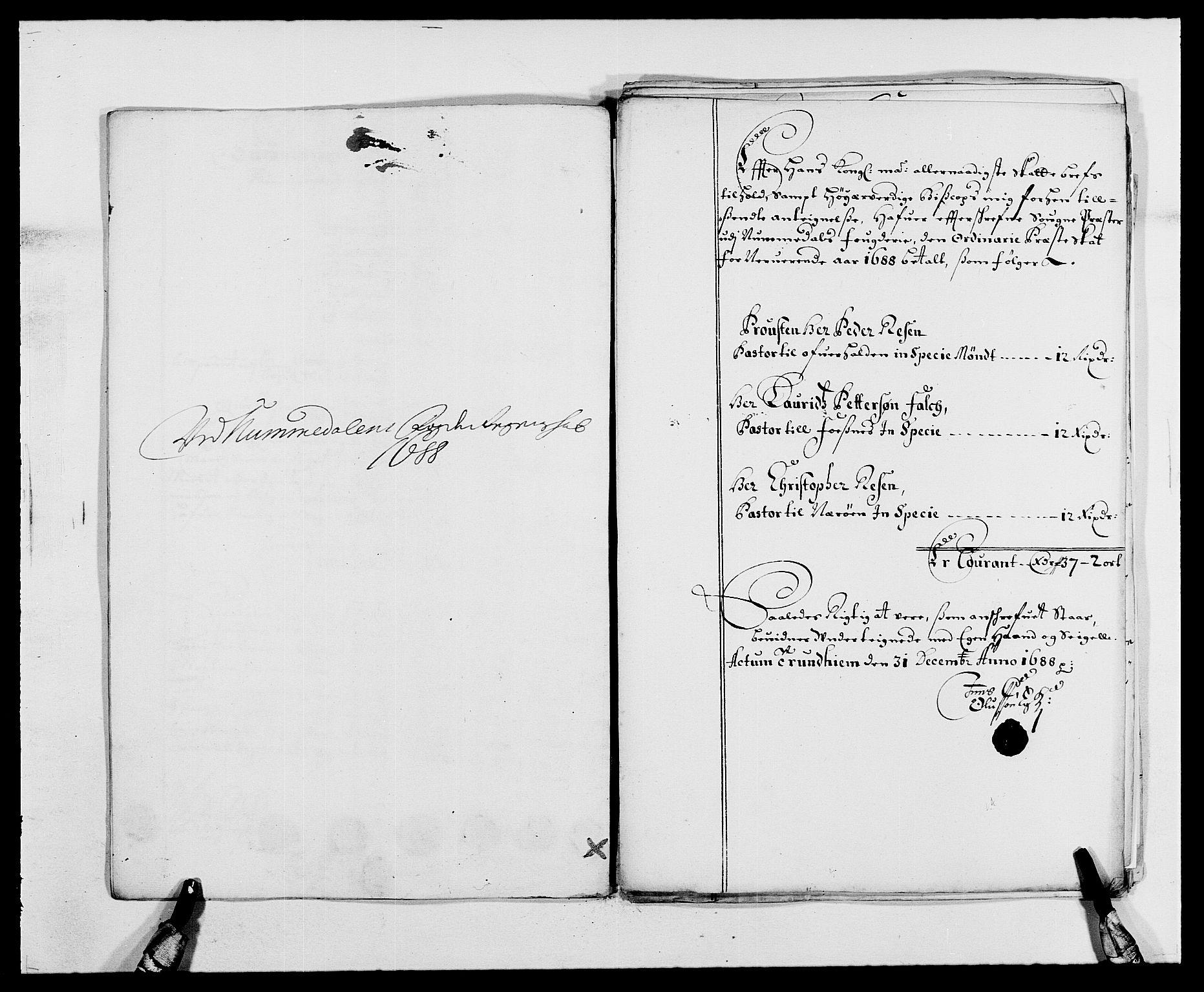 RA, Rentekammeret inntil 1814, Reviderte regnskaper, Fogderegnskap, R64/L4422: Fogderegnskap Namdal, 1687-1689, s. 166