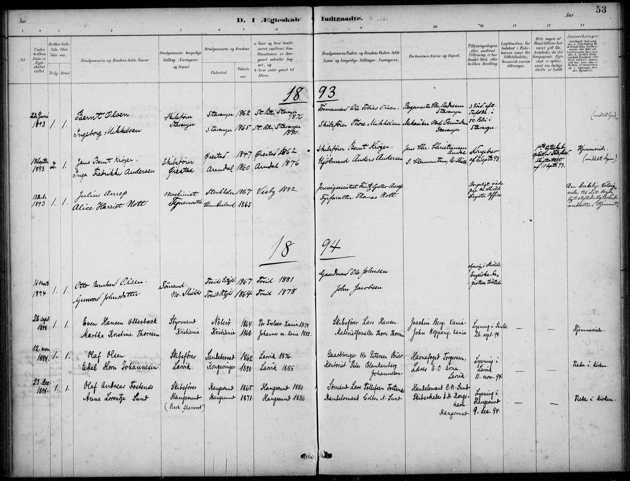 SAB, Den Norske Sjømannsmisjon i utlandet*, Ministerialbok nr. A 2, 1883-1936, s. 53