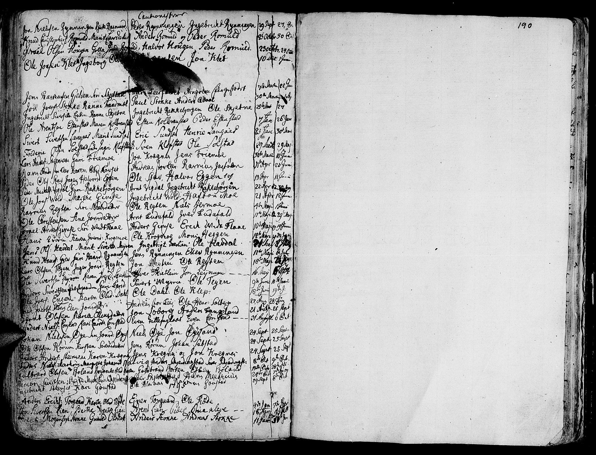 SAT, Ministerialprotokoller, klokkerbøker og fødselsregistre - Sør-Trøndelag, 691/L1061: Ministerialbok nr. 691A02 /1, 1768-1815, s. 190