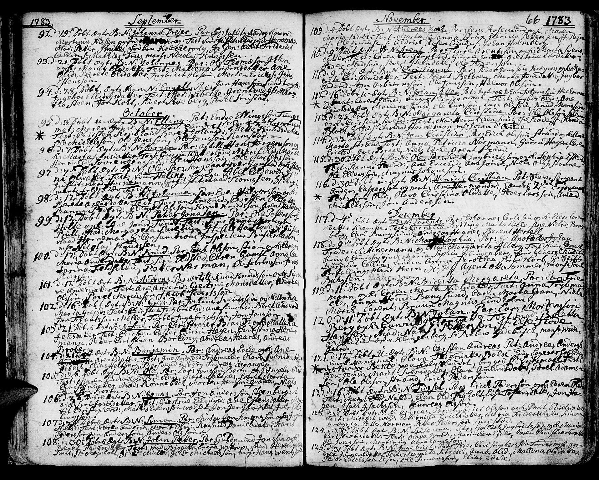 SAT, Ministerialprotokoller, klokkerbøker og fødselsregistre - Sør-Trøndelag, 601/L0039: Ministerialbok nr. 601A07, 1770-1819, s. 66