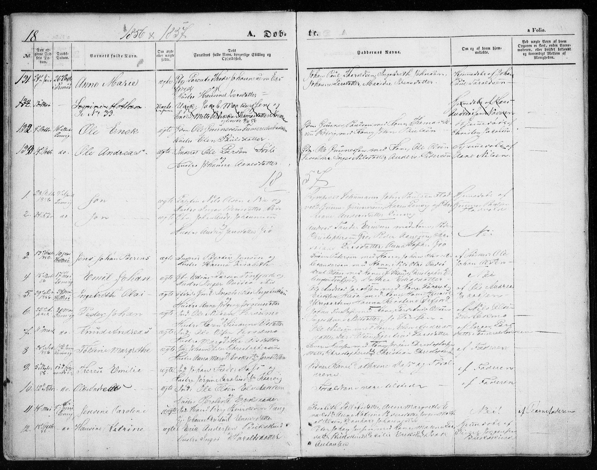 SATØ, Lenvik sokneprestembete, H/Ha: Ministerialbok nr. 7, 1855-1865, s. 18