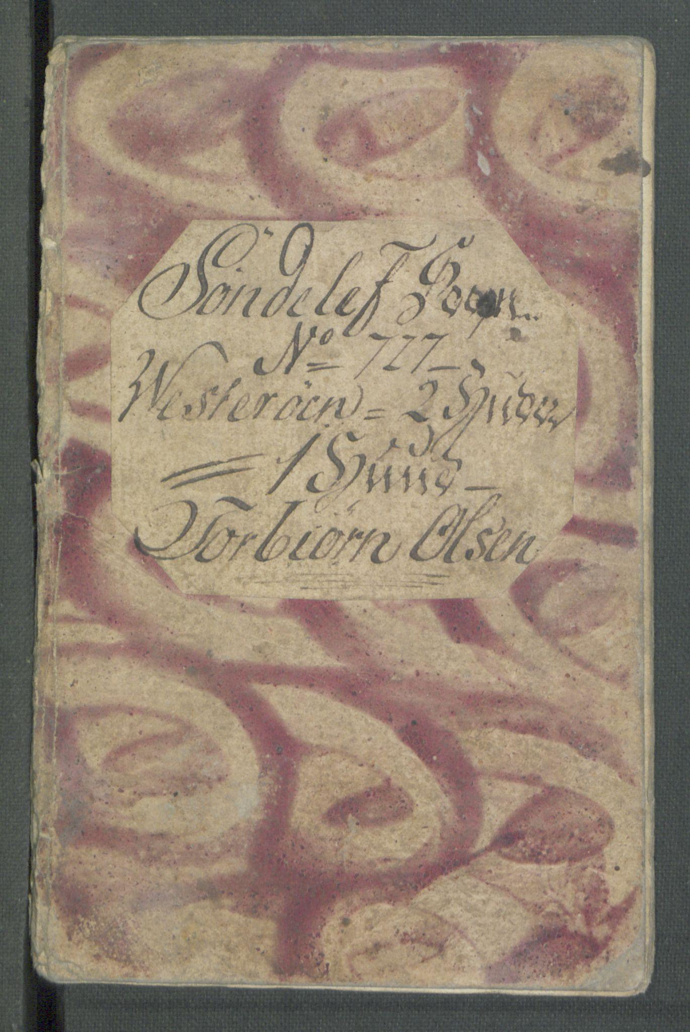 RA, Rentekammeret inntil 1814, Realistisk ordnet avdeling, Od/L0001: Oppløp, 1786-1769, s. 734