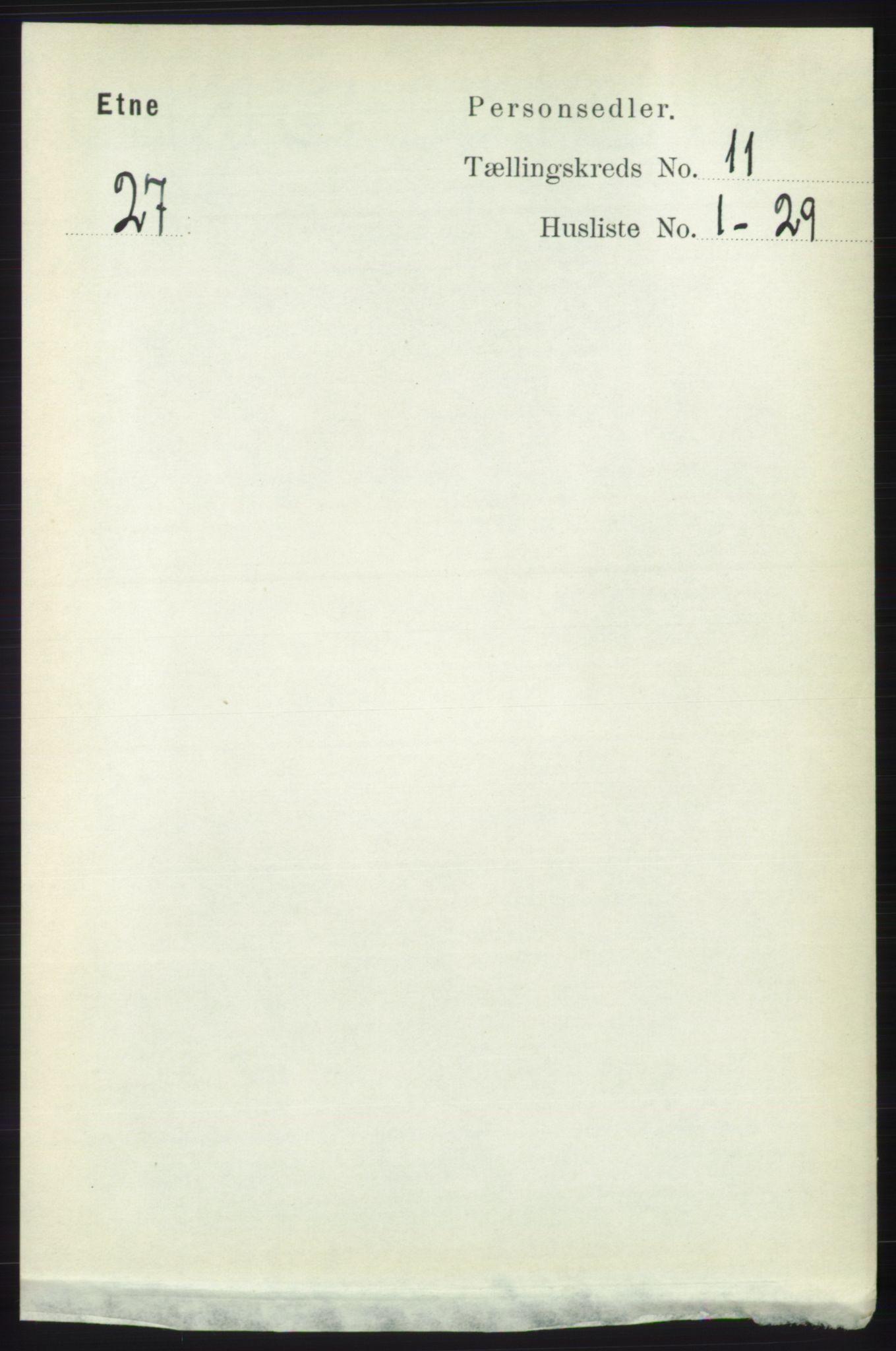 RA, Folketelling 1891 for 1211 Etne herred, 1891, s. 2262