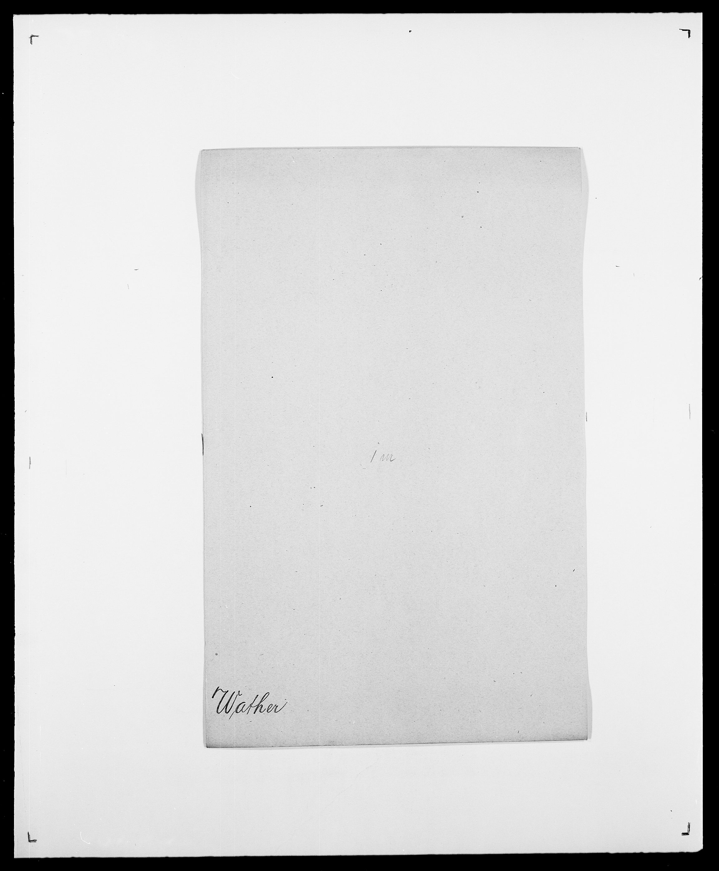 SAO, Delgobe, Charles Antoine - samling, D/Da/L0040: Usgaard - Velund, s. 375