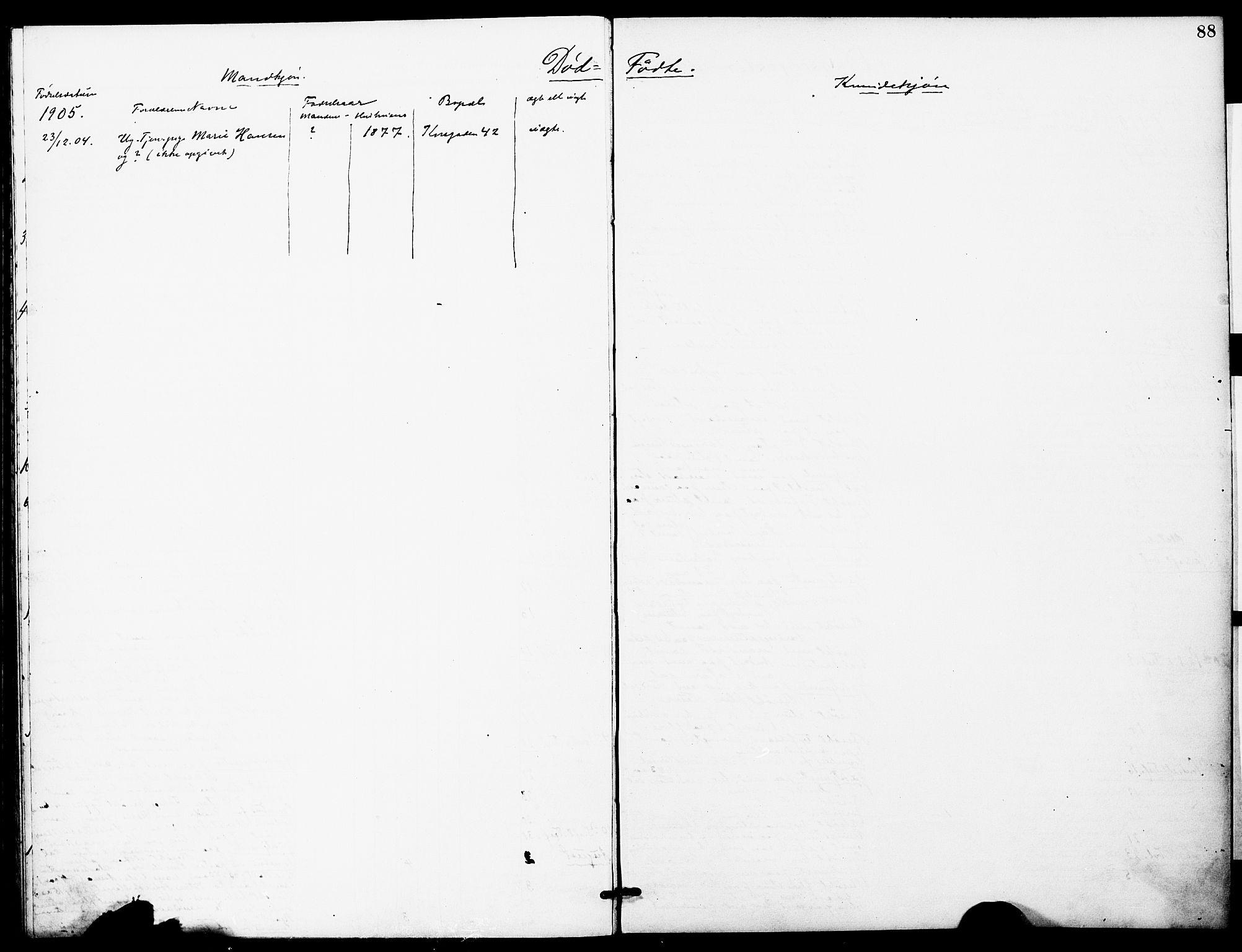 SAT, Ministerialprotokoller, klokkerbøker og fødselsregistre - Sør-Trøndelag, 628/L0483: Ministerialbok nr. 628A01, 1902-1920, s. 88