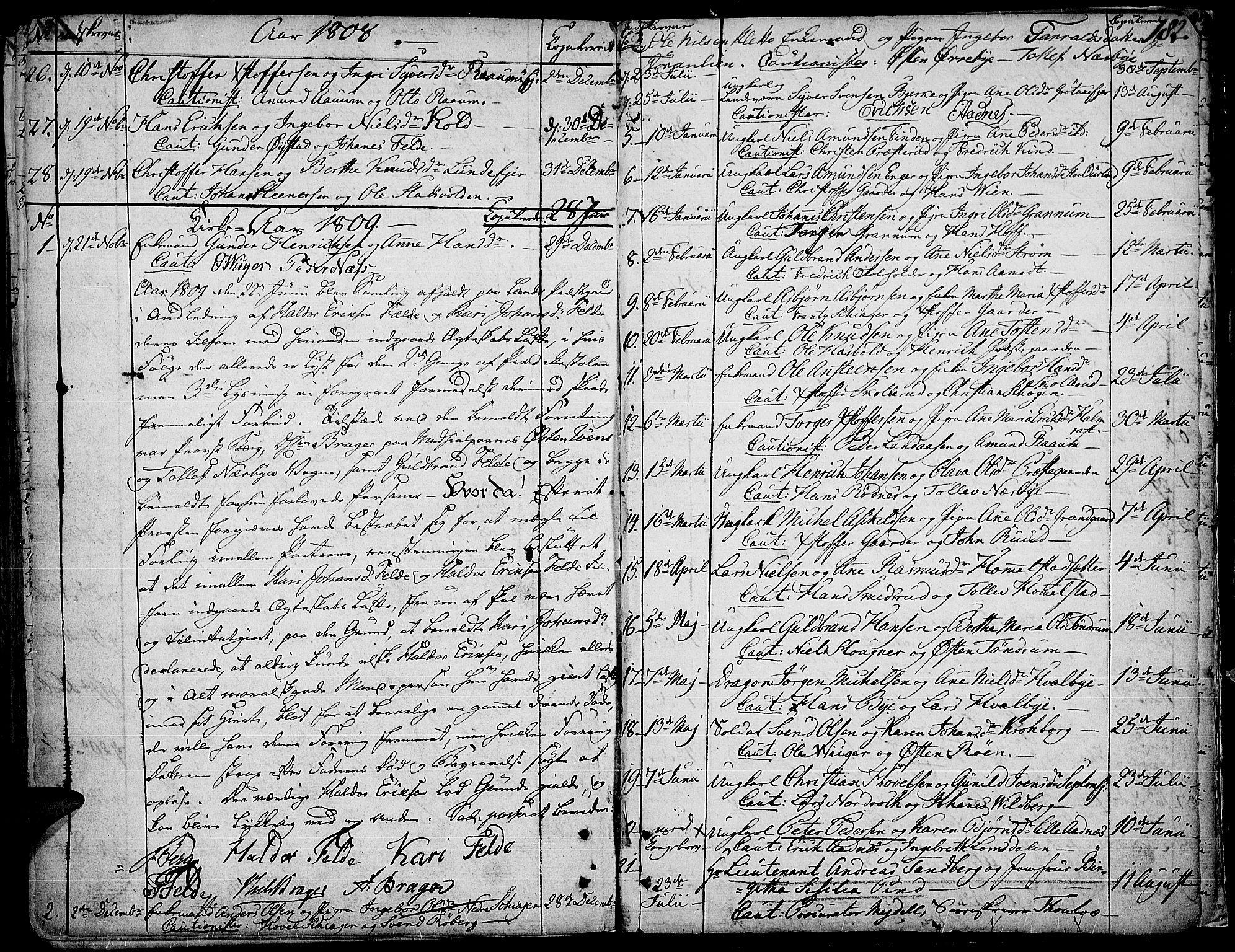 SAH, Land prestekontor, Ministerialbok nr. 6, 1784-1813, s. 182