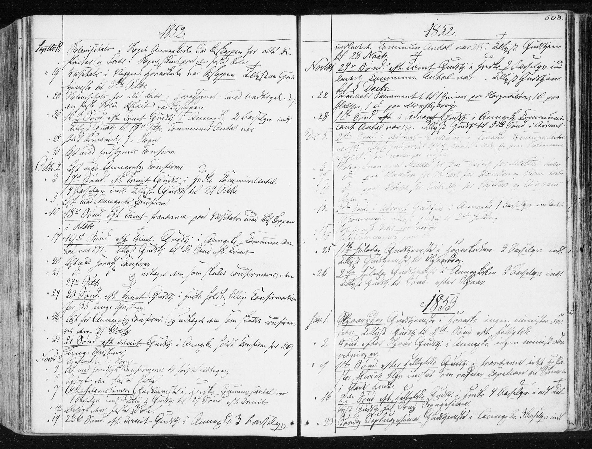 SAT, Ministerialprotokoller, klokkerbøker og fødselsregistre - Sør-Trøndelag, 665/L0771: Ministerialbok nr. 665A06, 1830-1856, s. 608