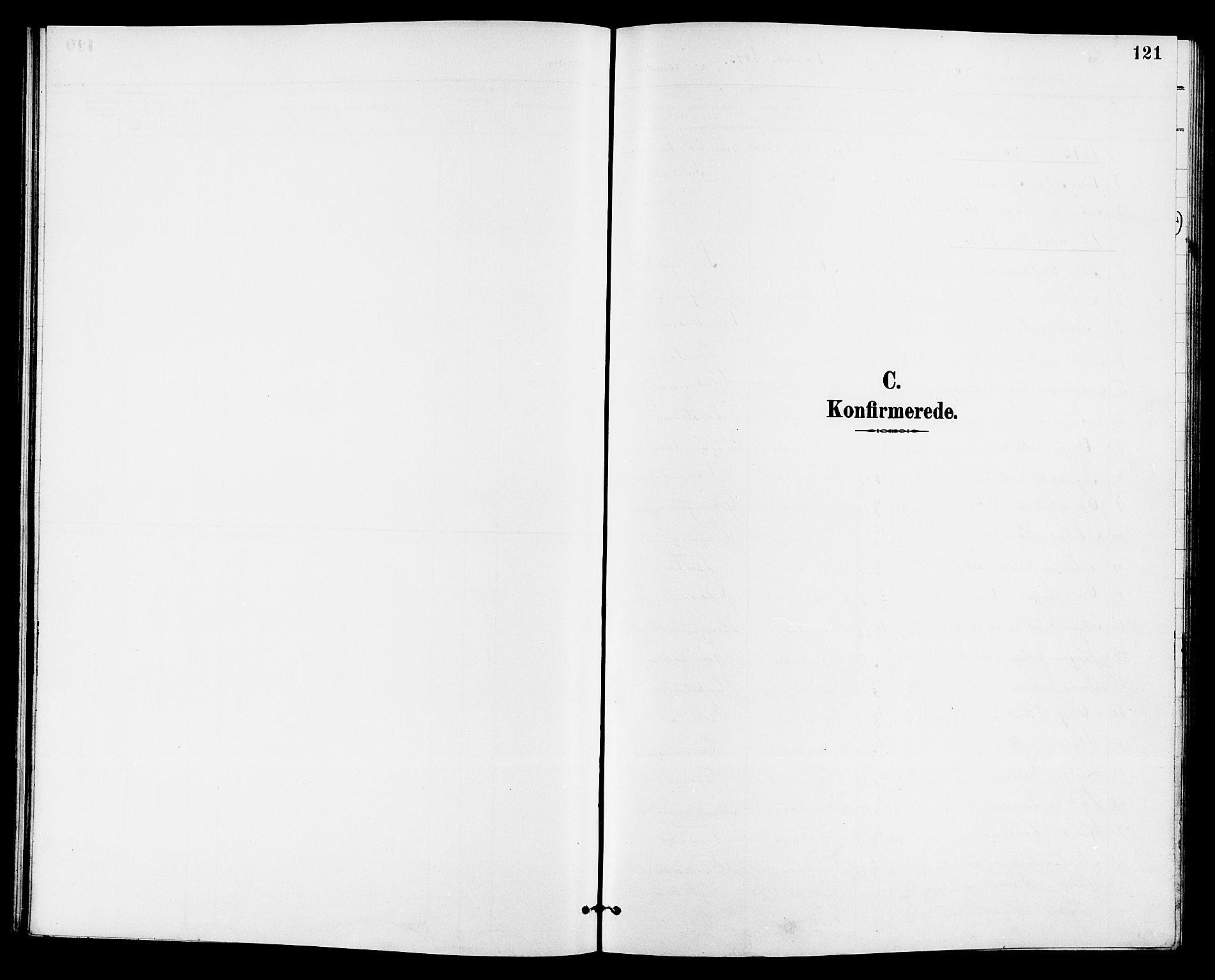 SAKO, Eidanger kirkebøker, G/Ga/L0003: Klokkerbok nr. 3, 1893-1911, s. 121