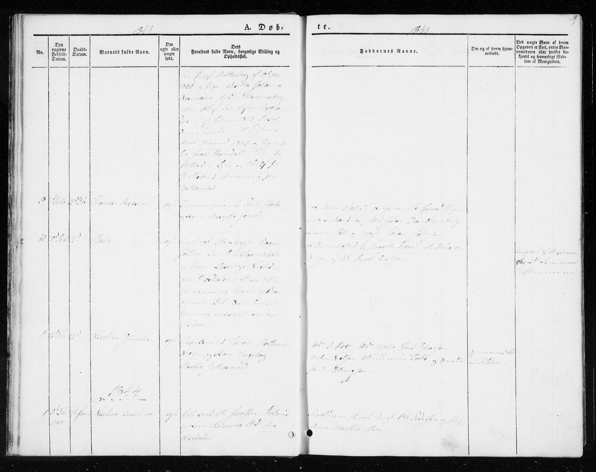 SAT, Ministerialprotokoller, klokkerbøker og fødselsregistre - Sør-Trøndelag, 604/L0183: Ministerialbok nr. 604A04, 1841-1850, s. 15