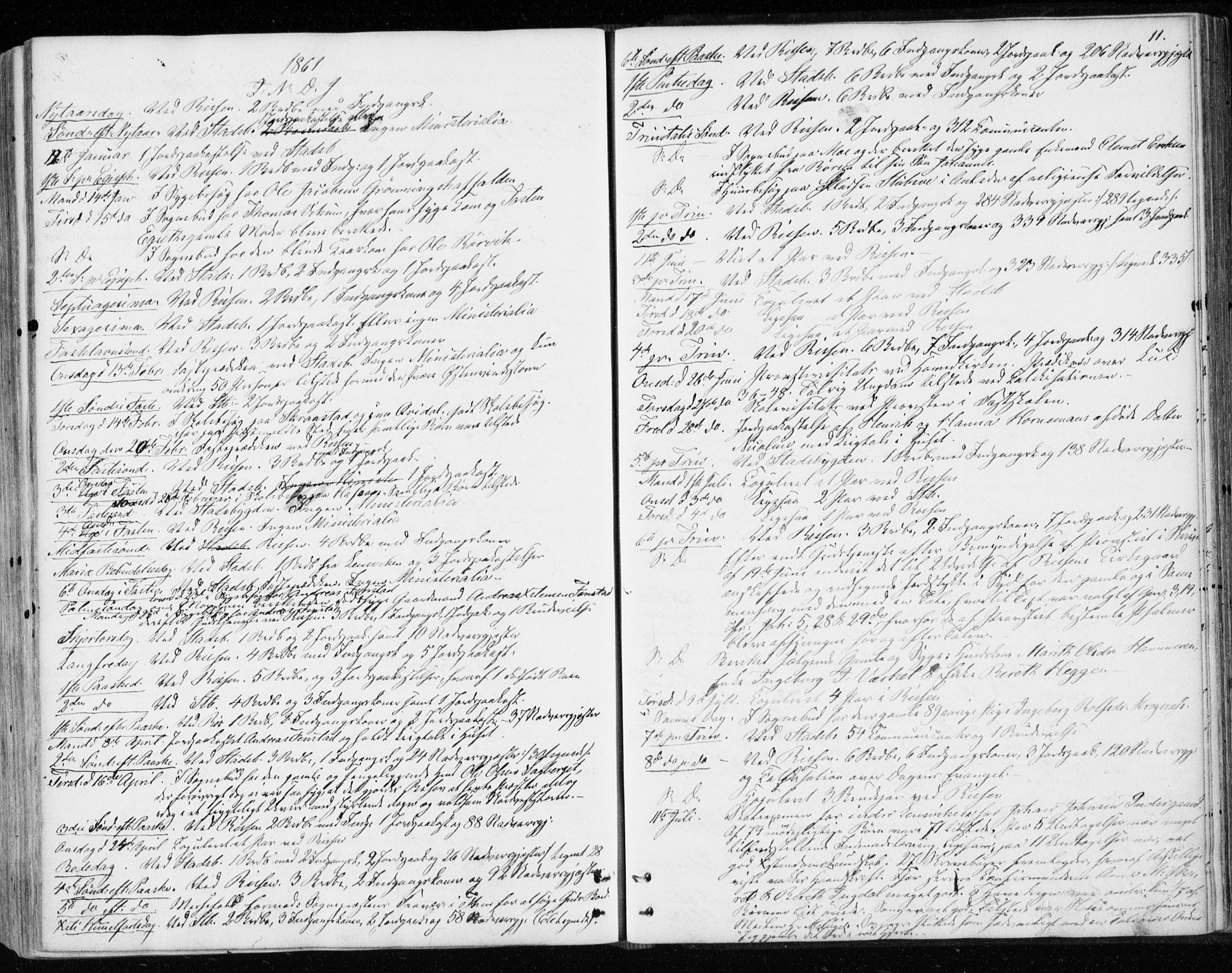 SAT, Ministerialprotokoller, klokkerbøker og fødselsregistre - Sør-Trøndelag, 646/L0612: Ministerialbok nr. 646A10, 1858-1869, s. 11