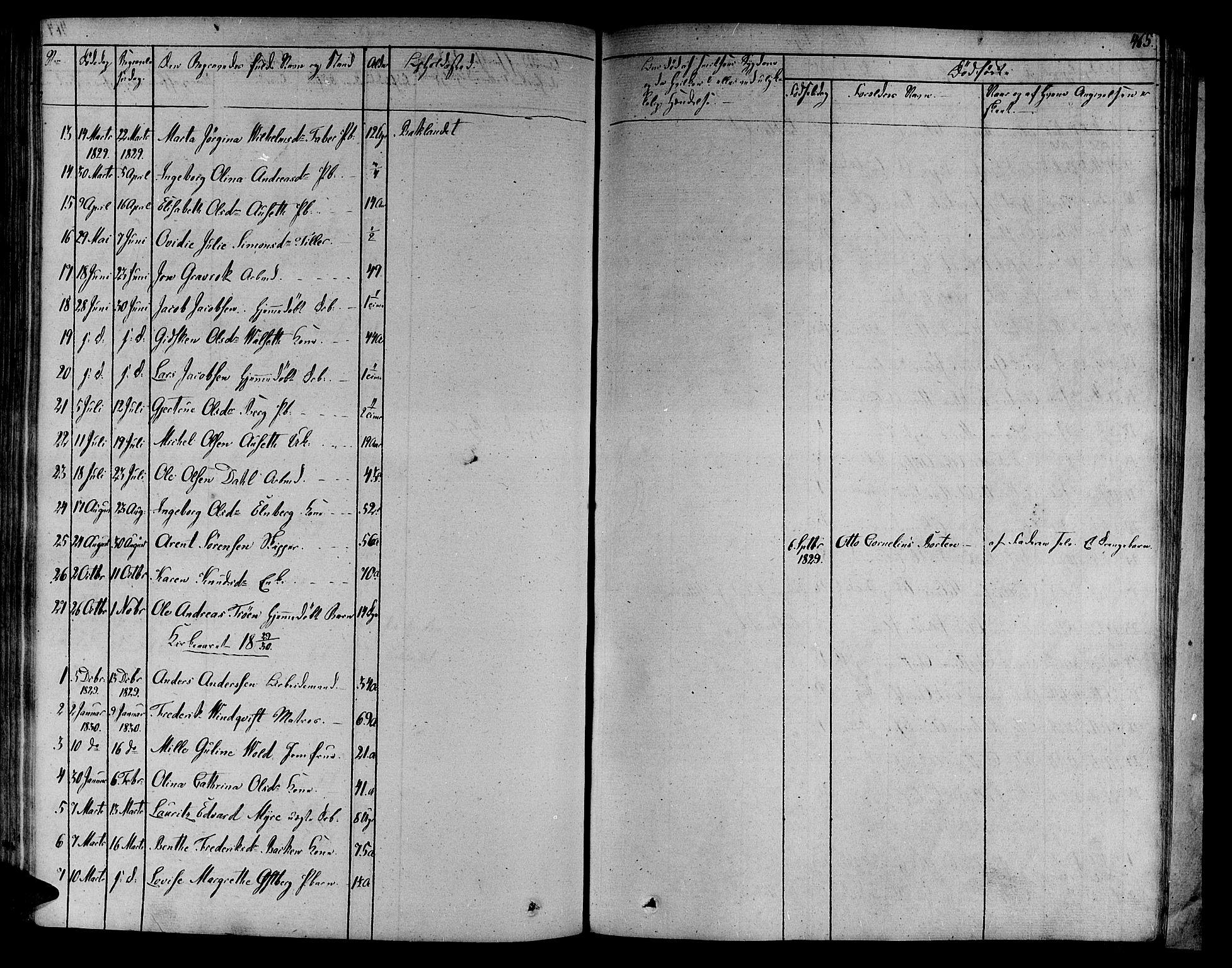 SAT, Ministerialprotokoller, klokkerbøker og fødselsregistre - Sør-Trøndelag, 606/L0287: Ministerialbok nr. 606A04 /2, 1826-1840, s. 465