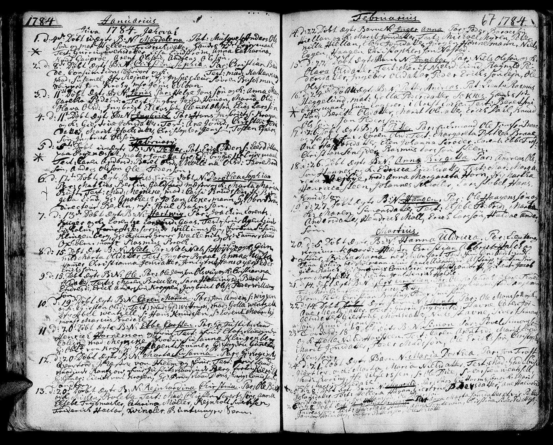 SAT, Ministerialprotokoller, klokkerbøker og fødselsregistre - Sør-Trøndelag, 601/L0039: Ministerialbok nr. 601A07, 1770-1819, s. 67