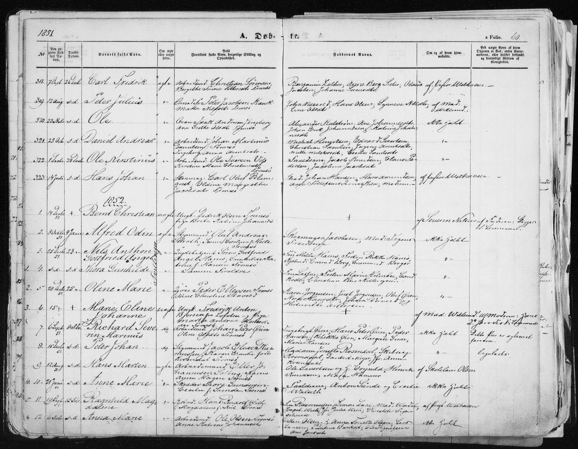 SATØ, Tromsø sokneprestkontor/stiftsprosti/domprosti, G/Ga/L0010kirke: Ministerialbok nr. 10, 1848-1855, s. 60
