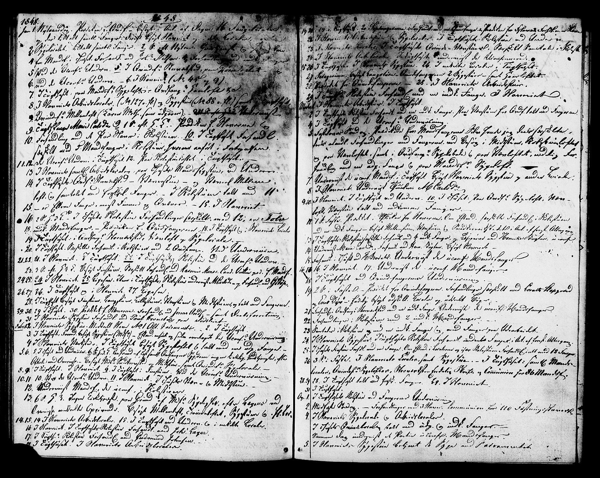 SAT, Ministerialprotokoller, klokkerbøker og fødselsregistre - Sør-Trøndelag, 624/L0480: Ministerialbok nr. 624A01, 1841-1864, s. 59