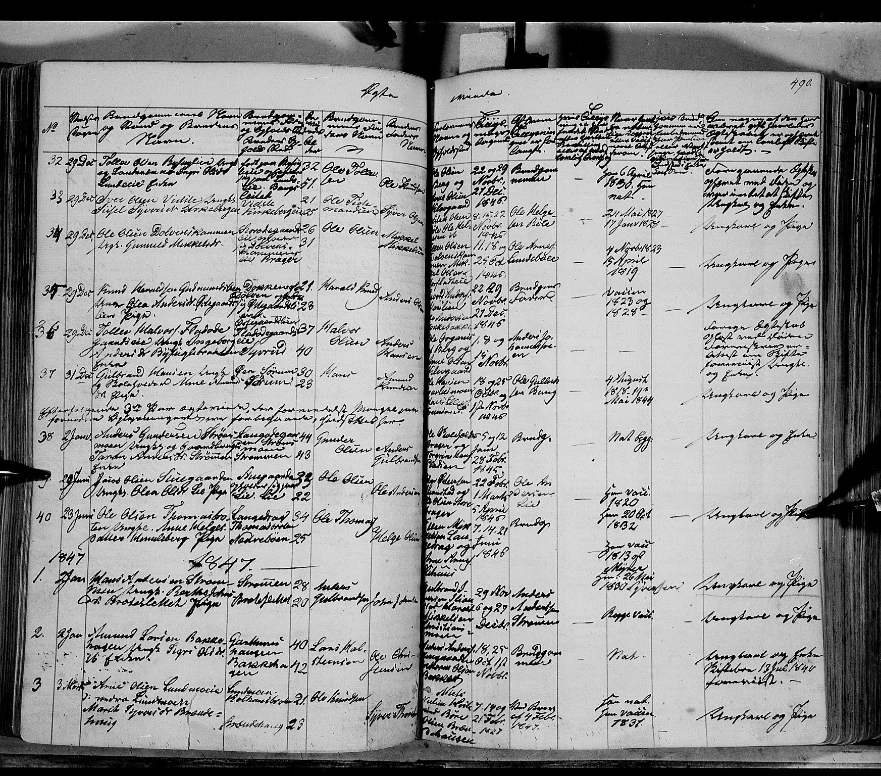 SAH, Sør-Aurdal prestekontor, Ministerialbok nr. 4, 1841-1849, s. 489-490