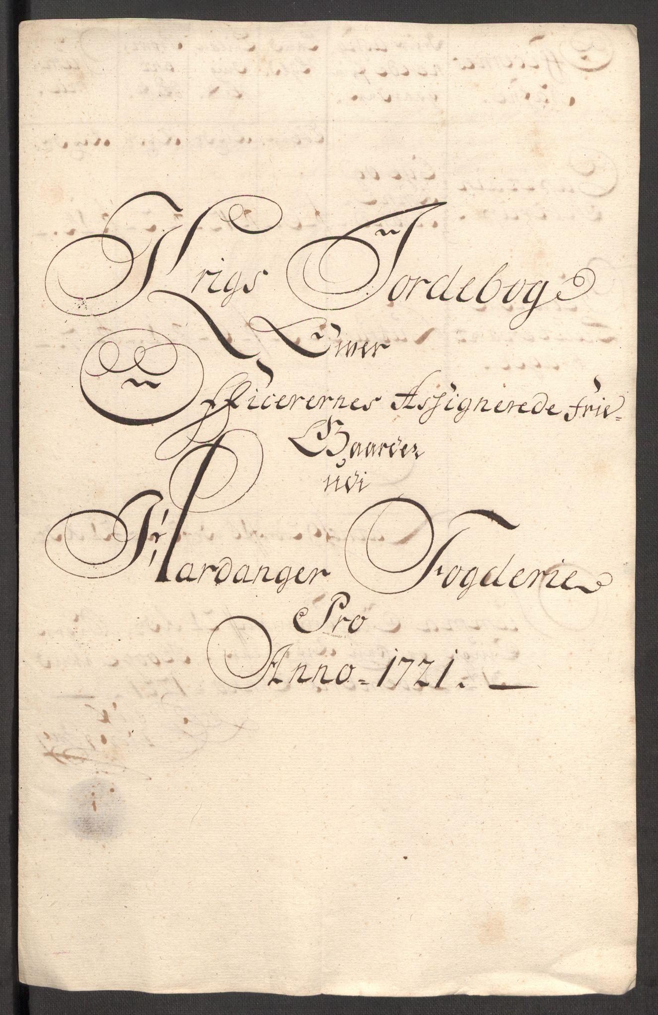 RA, Rentekammeret inntil 1814, Reviderte regnskaper, Fogderegnskap, R48/L3000: Fogderegnskap Sunnhordland og Hardanger, 1721, s. 329