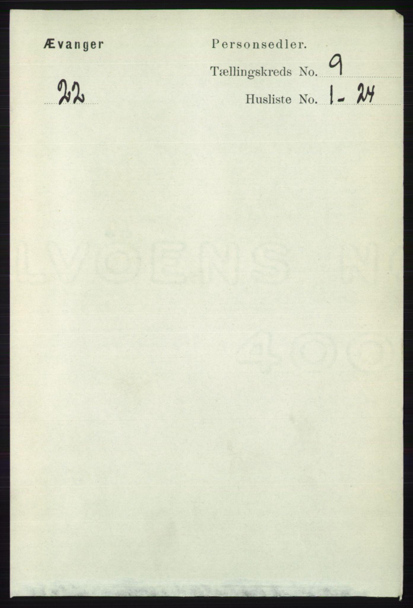 RA, Folketelling 1891 for 1237 Evanger herred, 1891, s. 2348