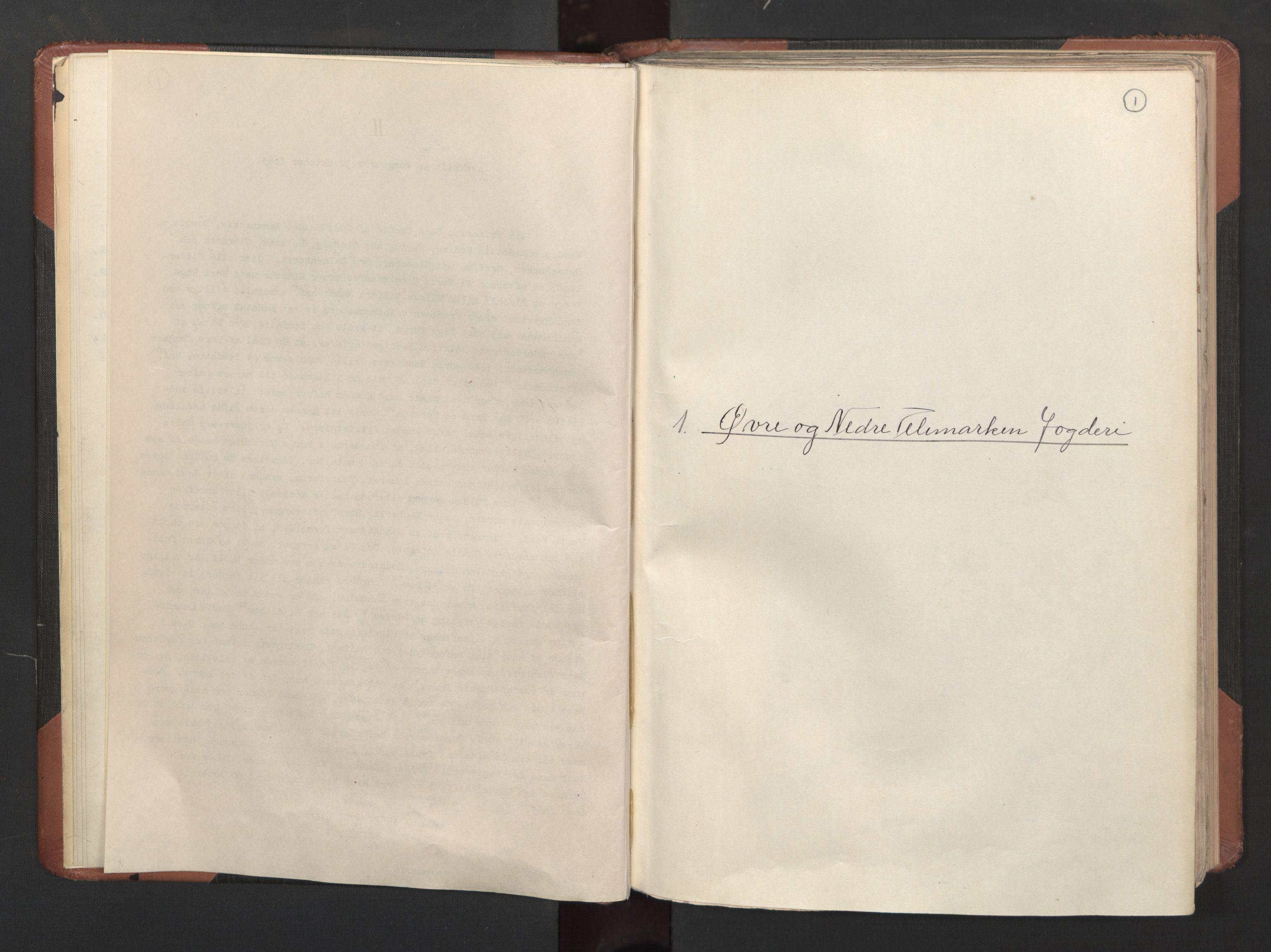 RA, Fogdenes og sorenskrivernes manntall 1664-1666, nr. 6: Øvre og Nedre Telemark fogderi og Bamble fogderi , 1664, s. 1