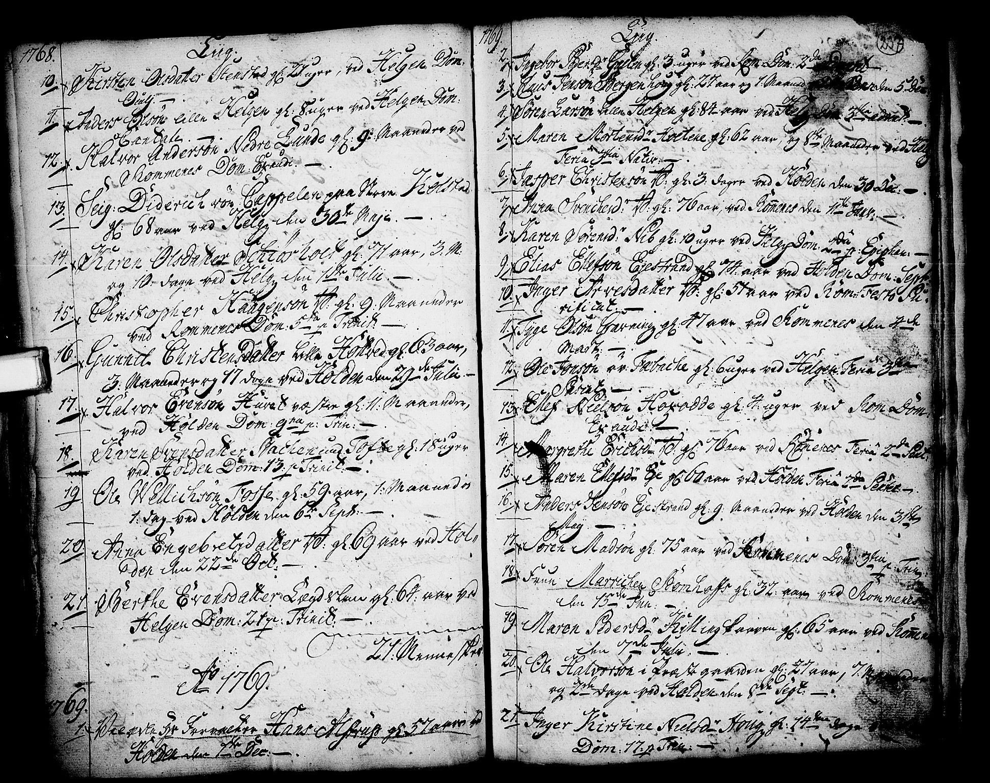 SAKO, Holla kirkebøker, F/Fa/L0001: Ministerialbok nr. 1, 1717-1779, s. 237