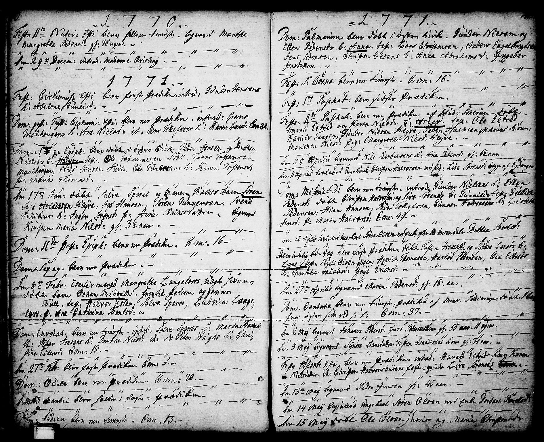 SAKO, Porsgrunn kirkebøker , F/Fa/L0001: Ministerialbok nr. 1, 1764-1814, s. 40-41
