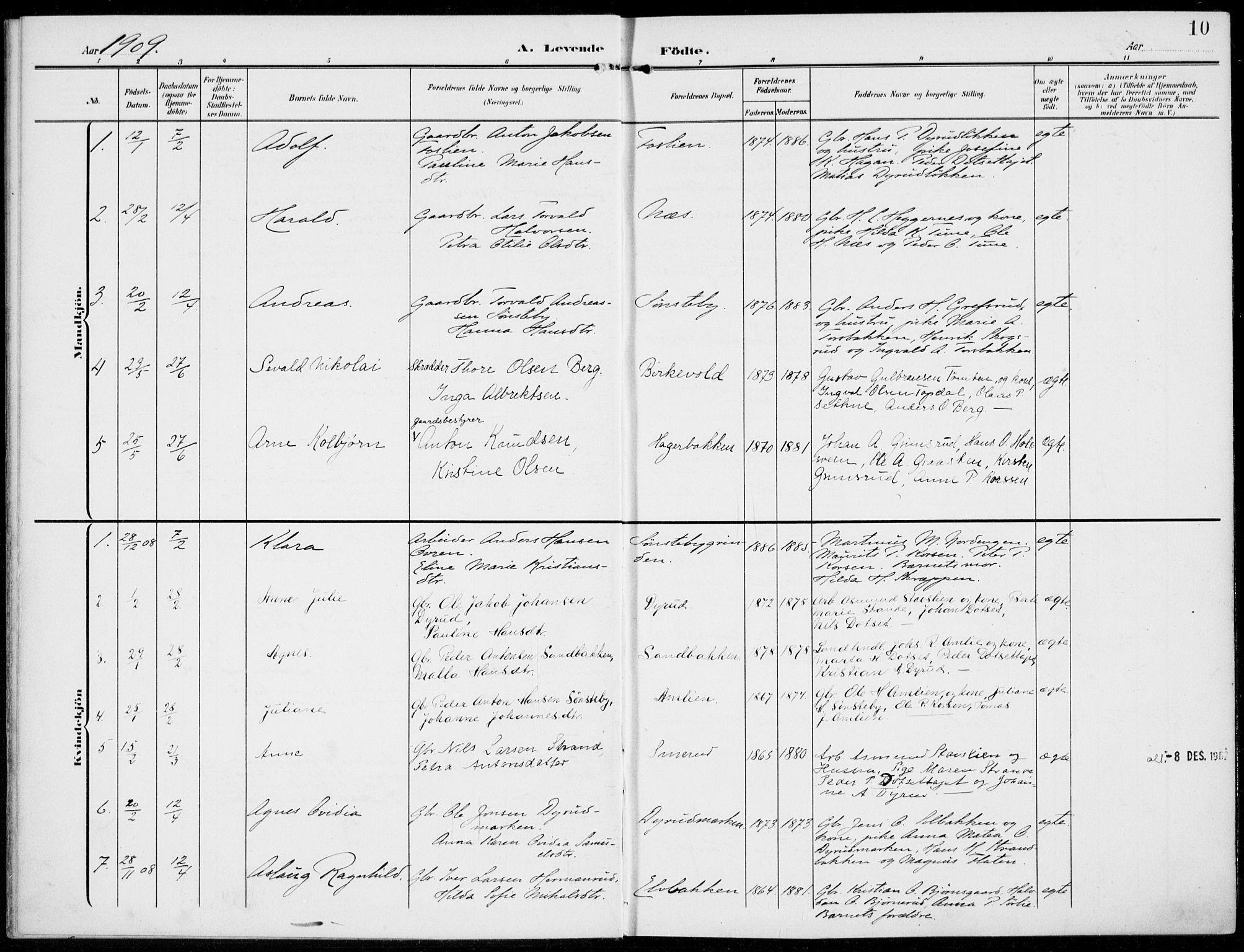 SAH, Kolbu prestekontor, Ministerialbok nr. 1, 1907-1923, s. 10