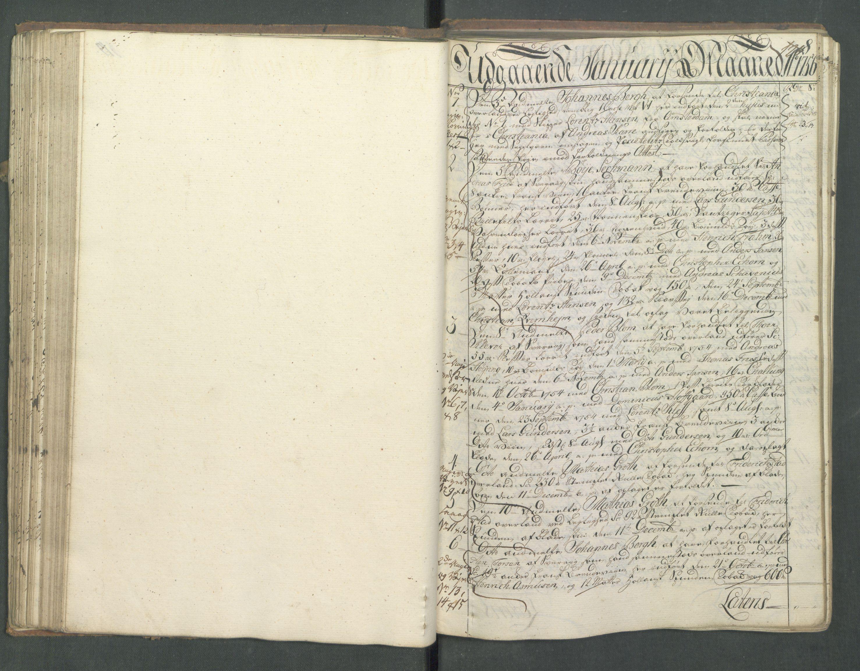 RA, Generaltollkammeret, tollregnskaper, R01/L0028: Tollregnskaper Fredrikshald, 1756, s. 120