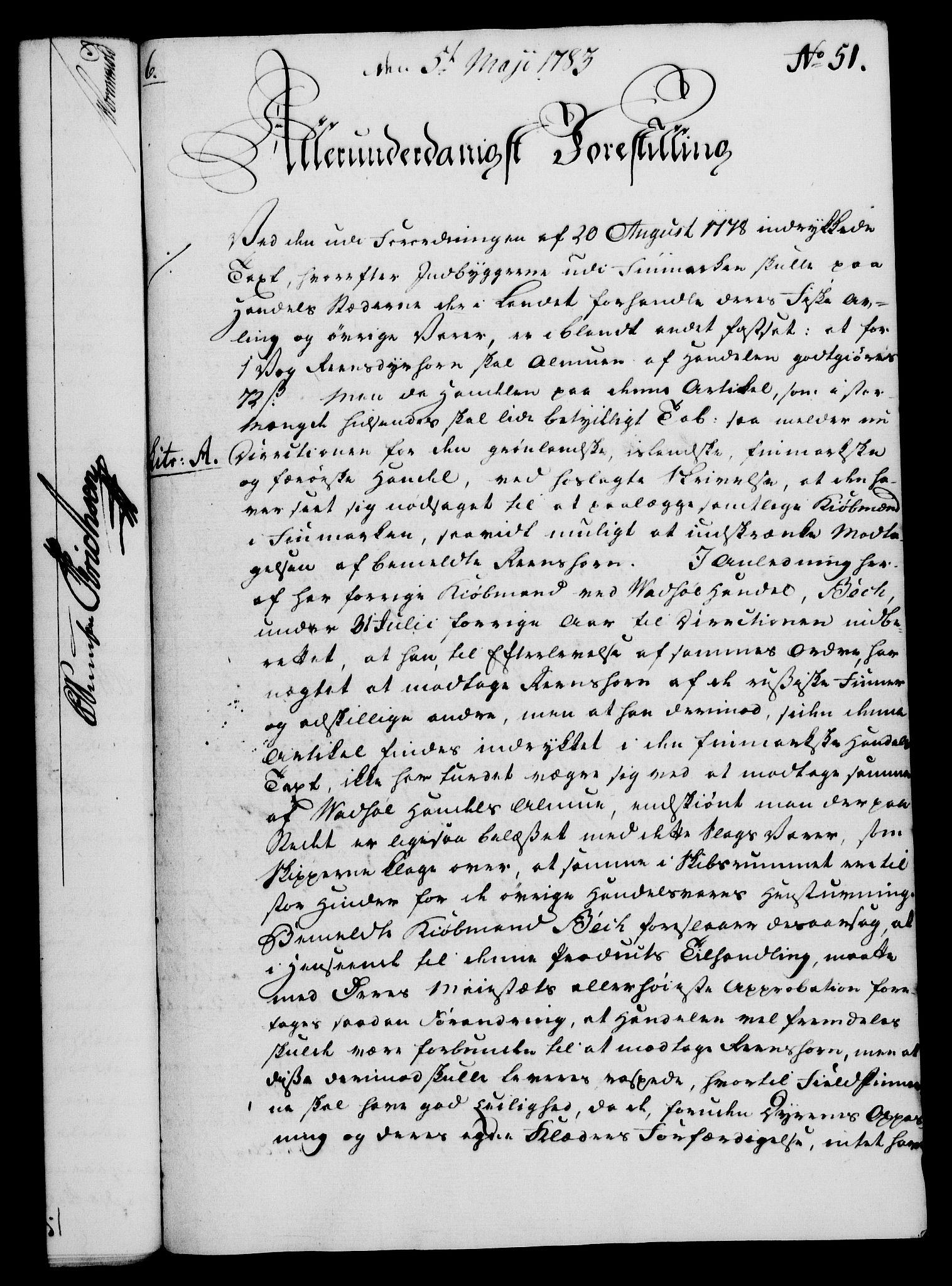 RA, Rentekammeret, Kammerkanselliet, G/Gf/Gfa/L0065: Norsk relasjons- og resolusjonsprotokoll (merket RK 52.65), 1783, s. 343