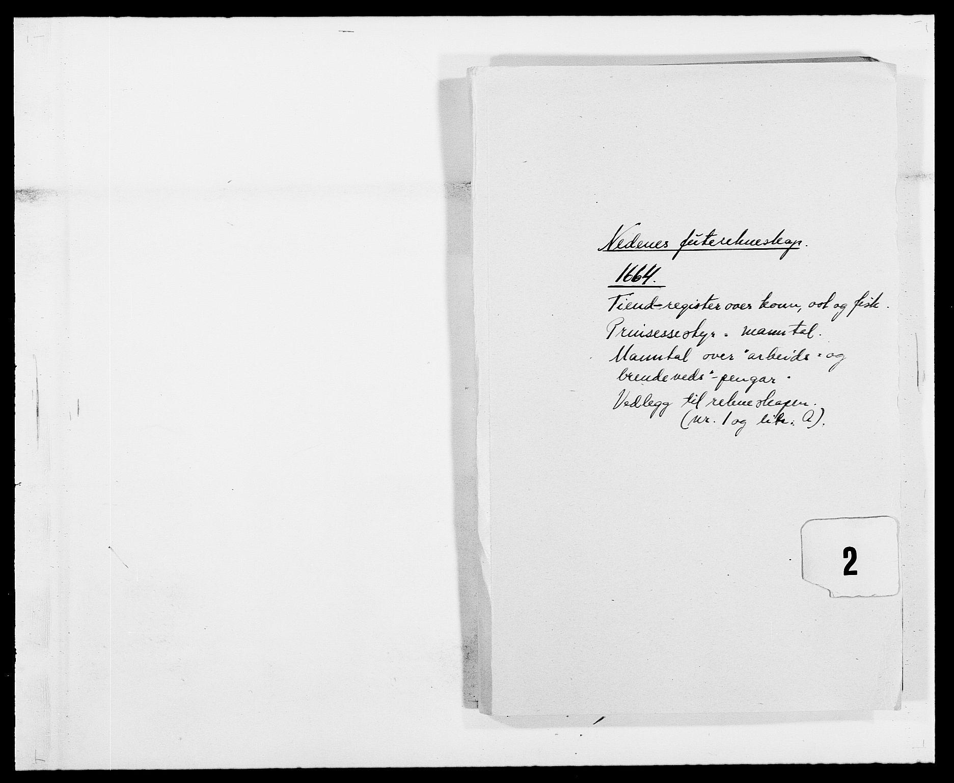 RA, Rentekammeret inntil 1814, Reviderte regnskaper, Fogderegnskap, R39/L2296: Fogderegnskap Nedenes, 1664-1666, s. 253