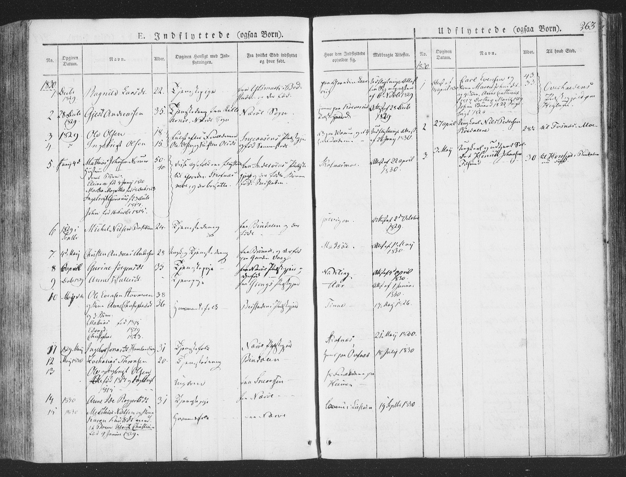 SAT, Ministerialprotokoller, klokkerbøker og fødselsregistre - Nord-Trøndelag, 780/L0639: Ministerialbok nr. 780A04, 1830-1844, s. 263