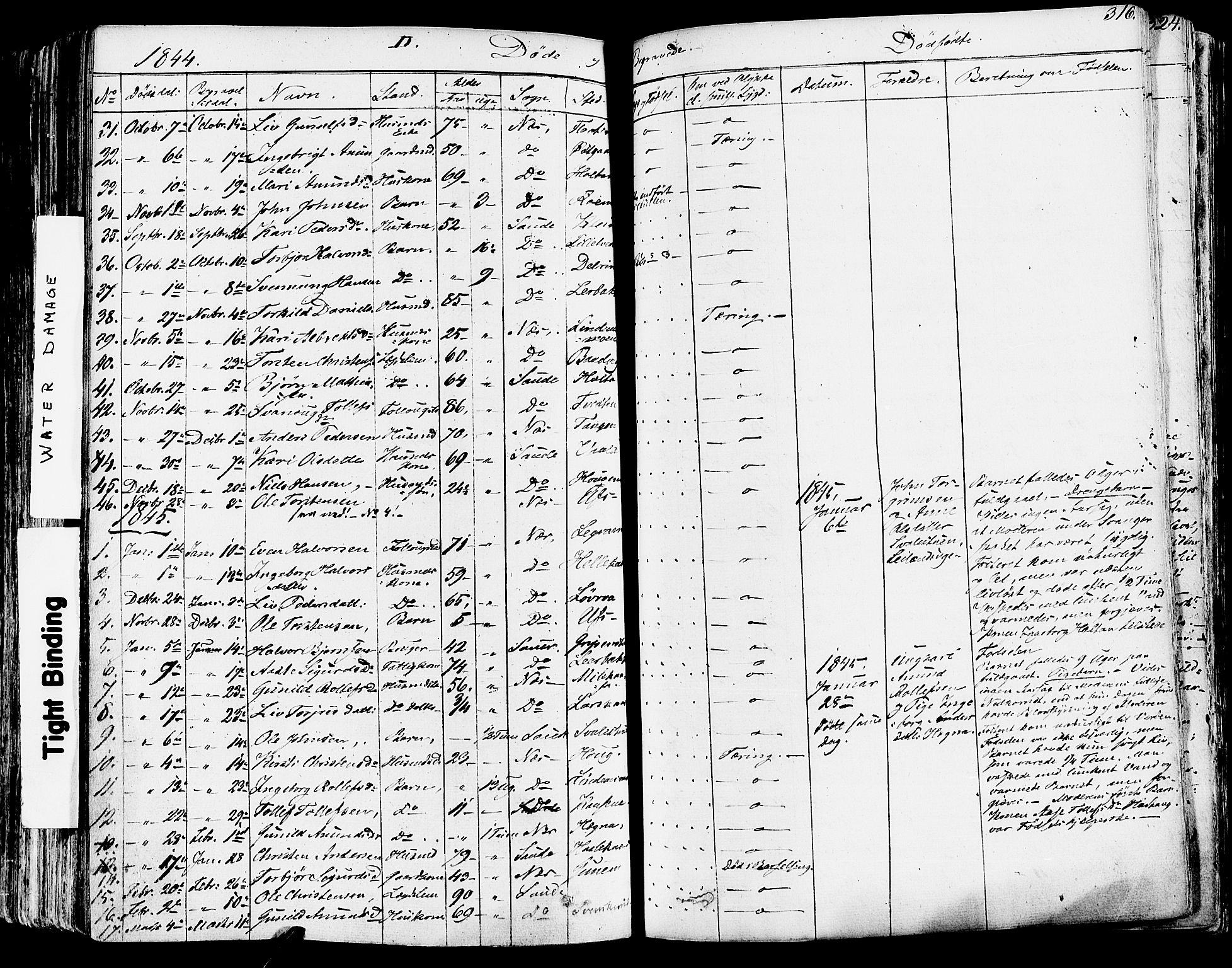 SAKO, Sauherad kirkebøker, F/Fa/L0006: Ministerialbok nr. I 6, 1827-1850, s. 316