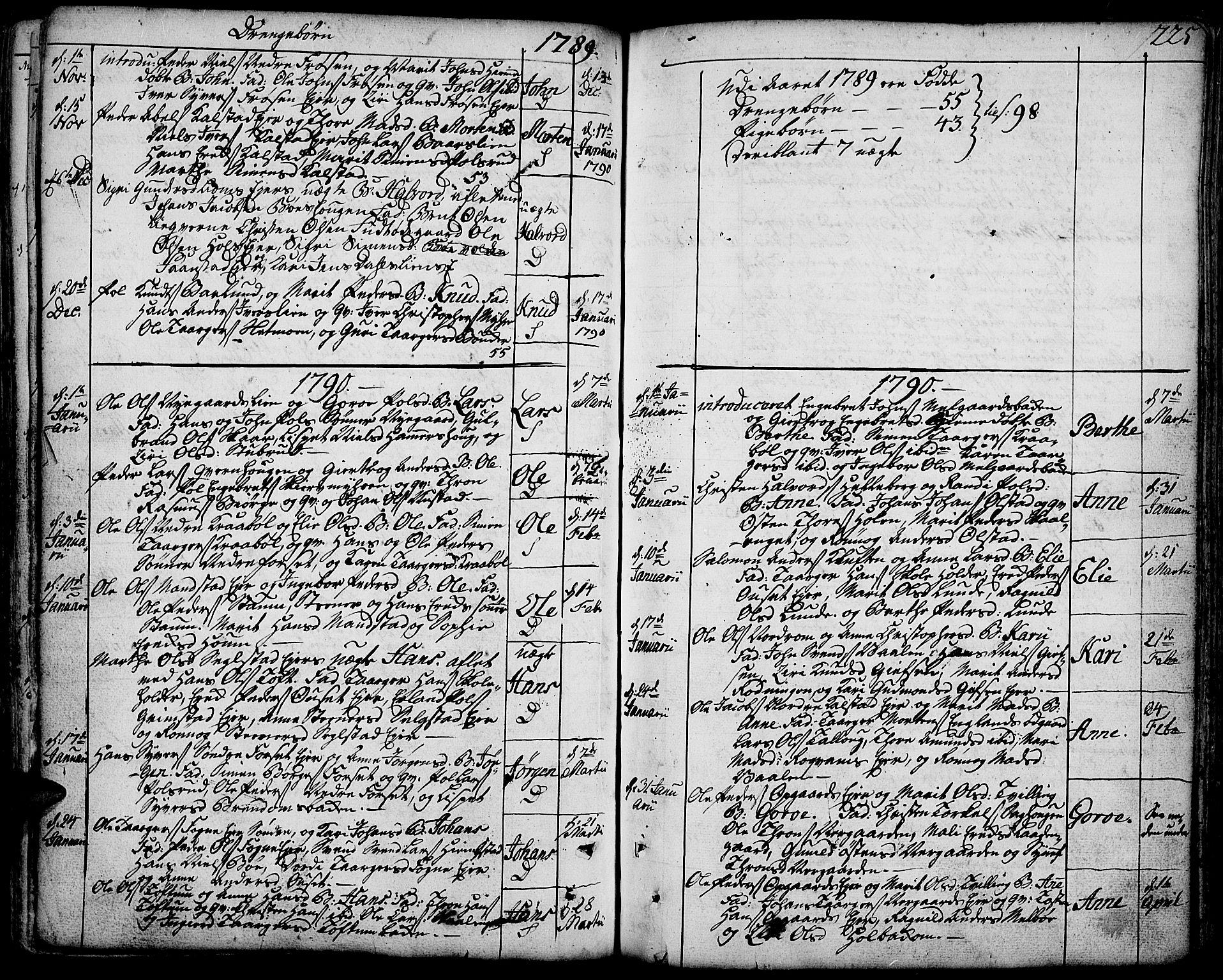 SAH, Gausdal prestekontor, Ministerialbok nr. 3, 1758-1809, s. 225