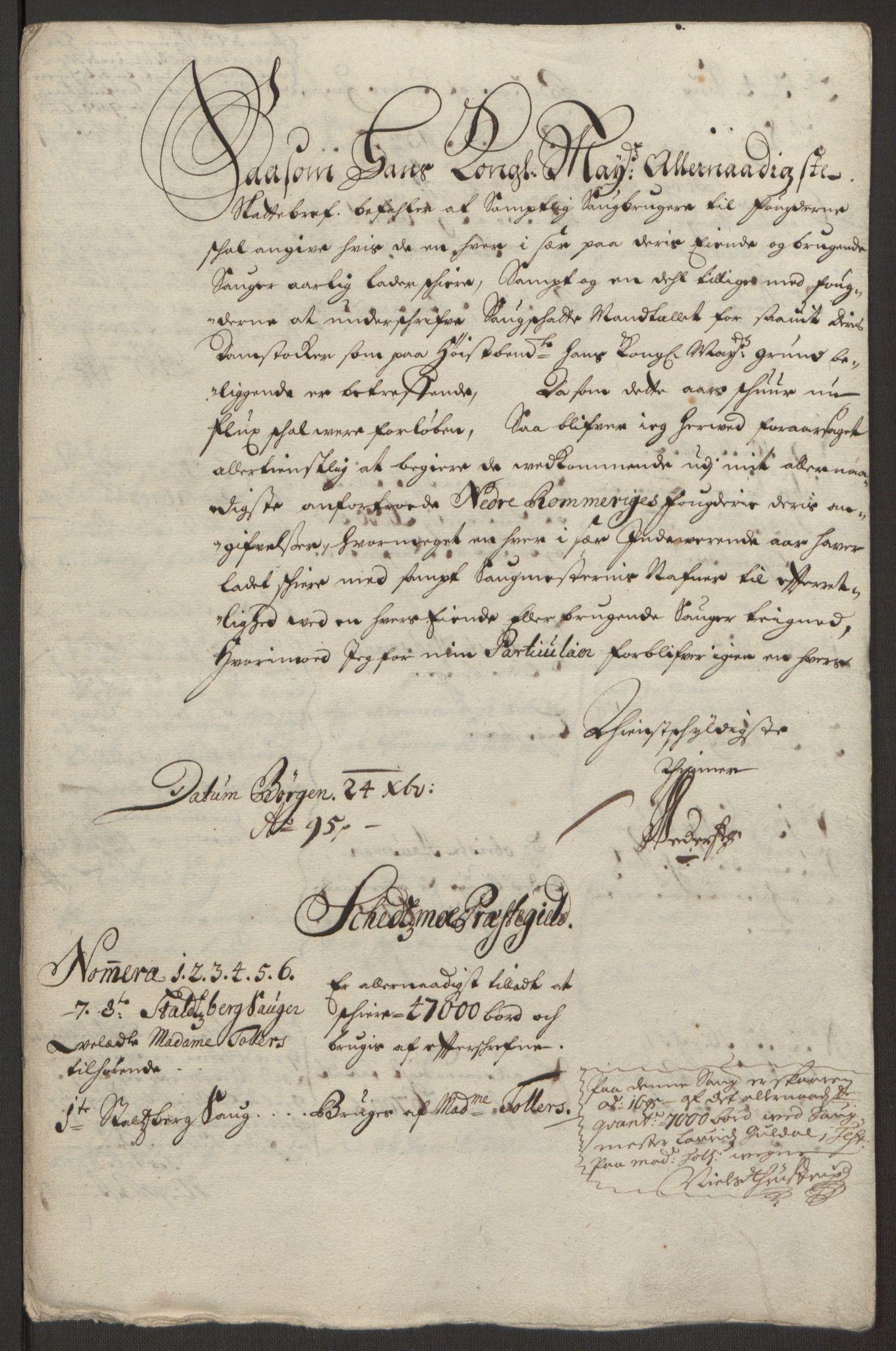 RA, Rentekammeret inntil 1814, Reviderte regnskaper, Fogderegnskap, R11/L0579: Fogderegnskap Nedre Romerike, 1694-1695, s. 398