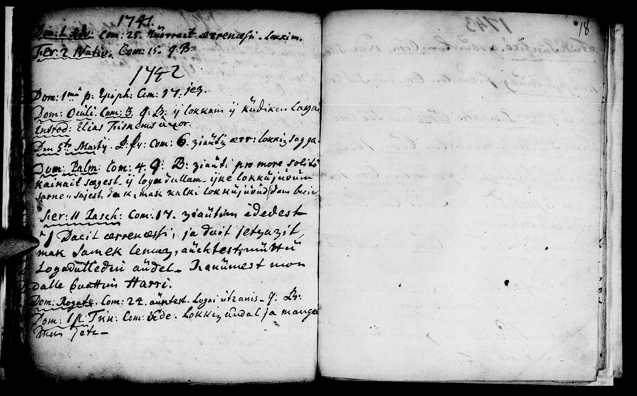 SAT, Ministerialprotokoller, klokkerbøker og fødselsregistre - Nord-Trøndelag, 759/L0525: Ministerialbok nr. 759A01, 1706-1748, s. 18