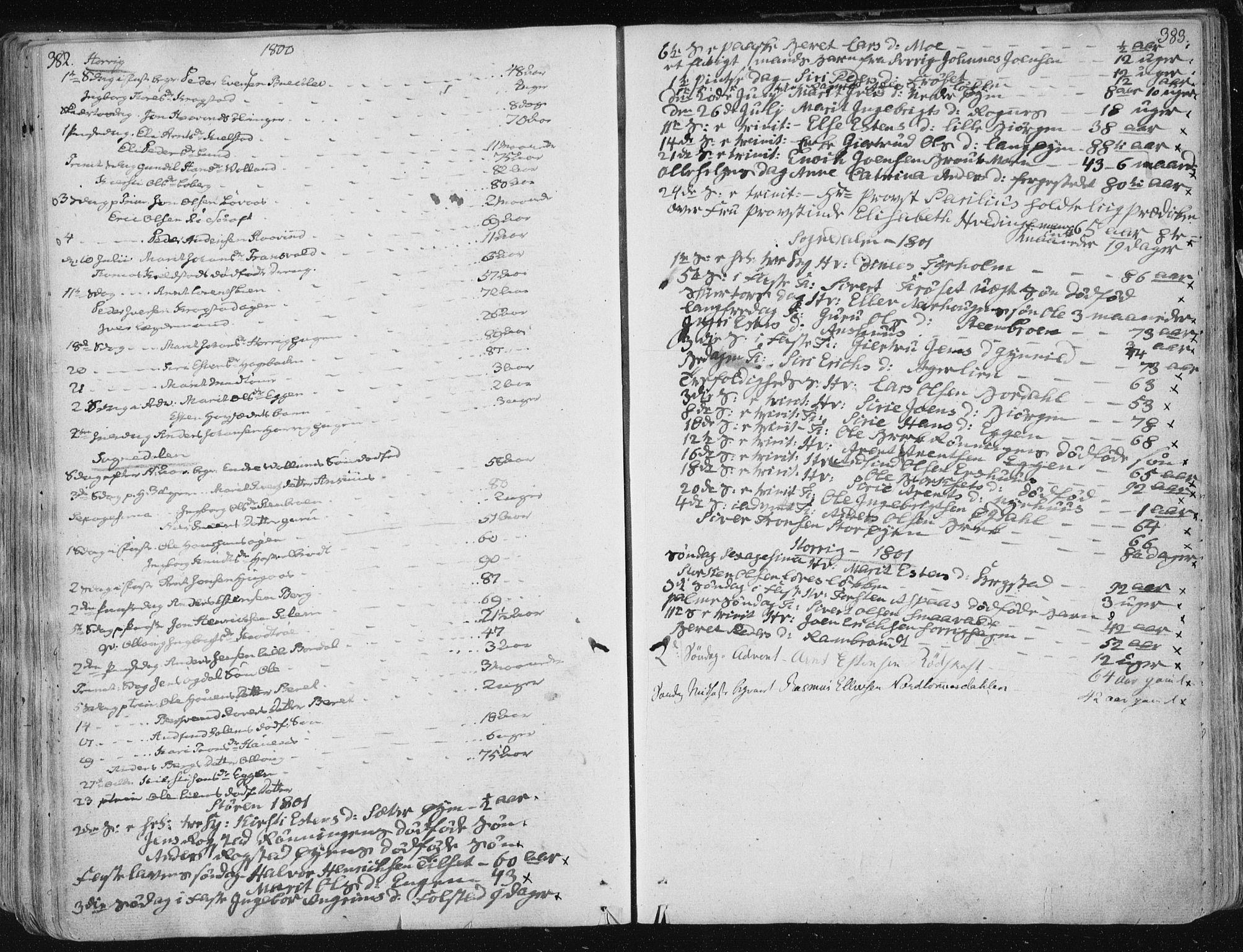 SAT, Ministerialprotokoller, klokkerbøker og fødselsregistre - Sør-Trøndelag, 687/L0992: Ministerialbok nr. 687A03 /1, 1788-1815, s. 382-383