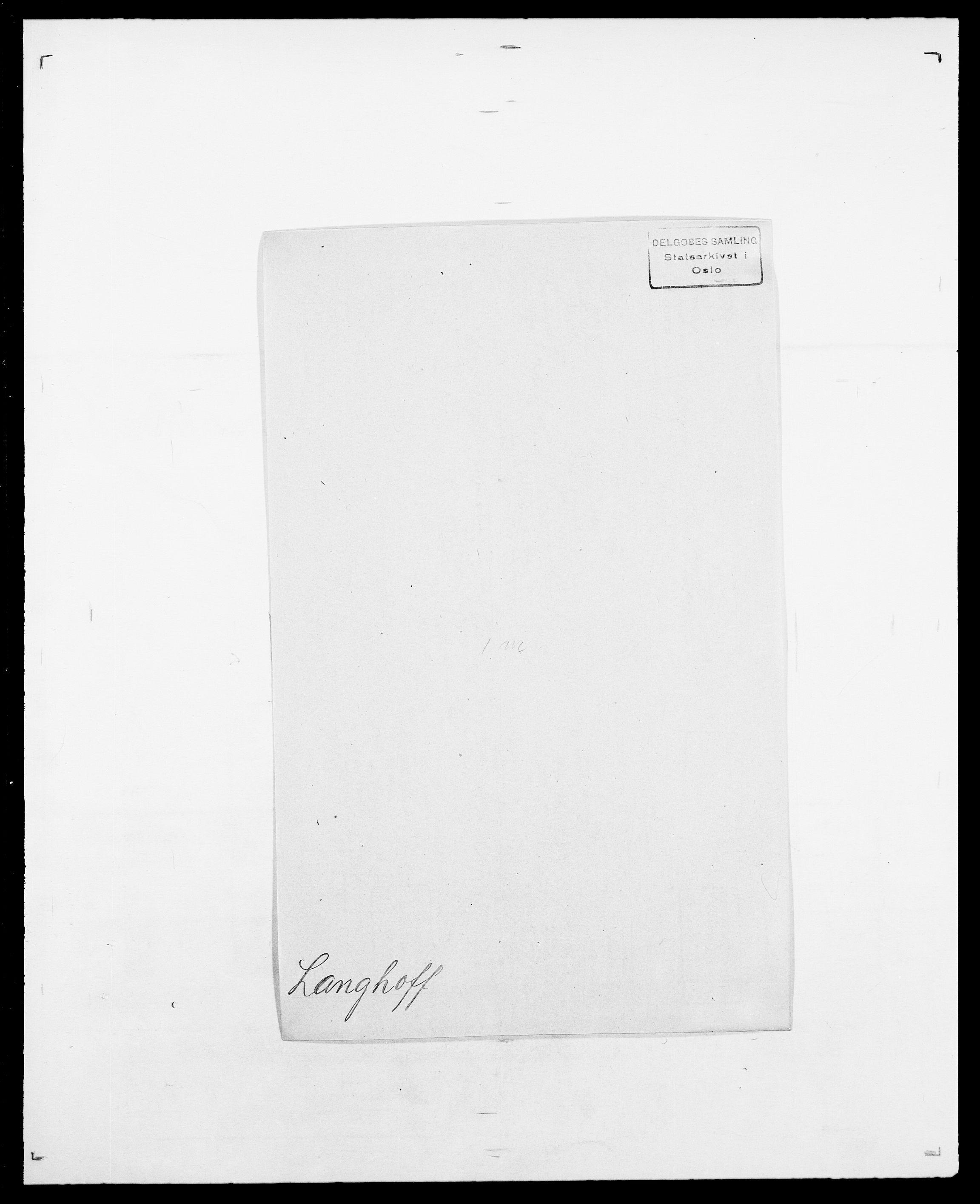 SAO, Delgobe, Charles Antoine - samling, D/Da/L0022: Krog - Lasteen, s. 699