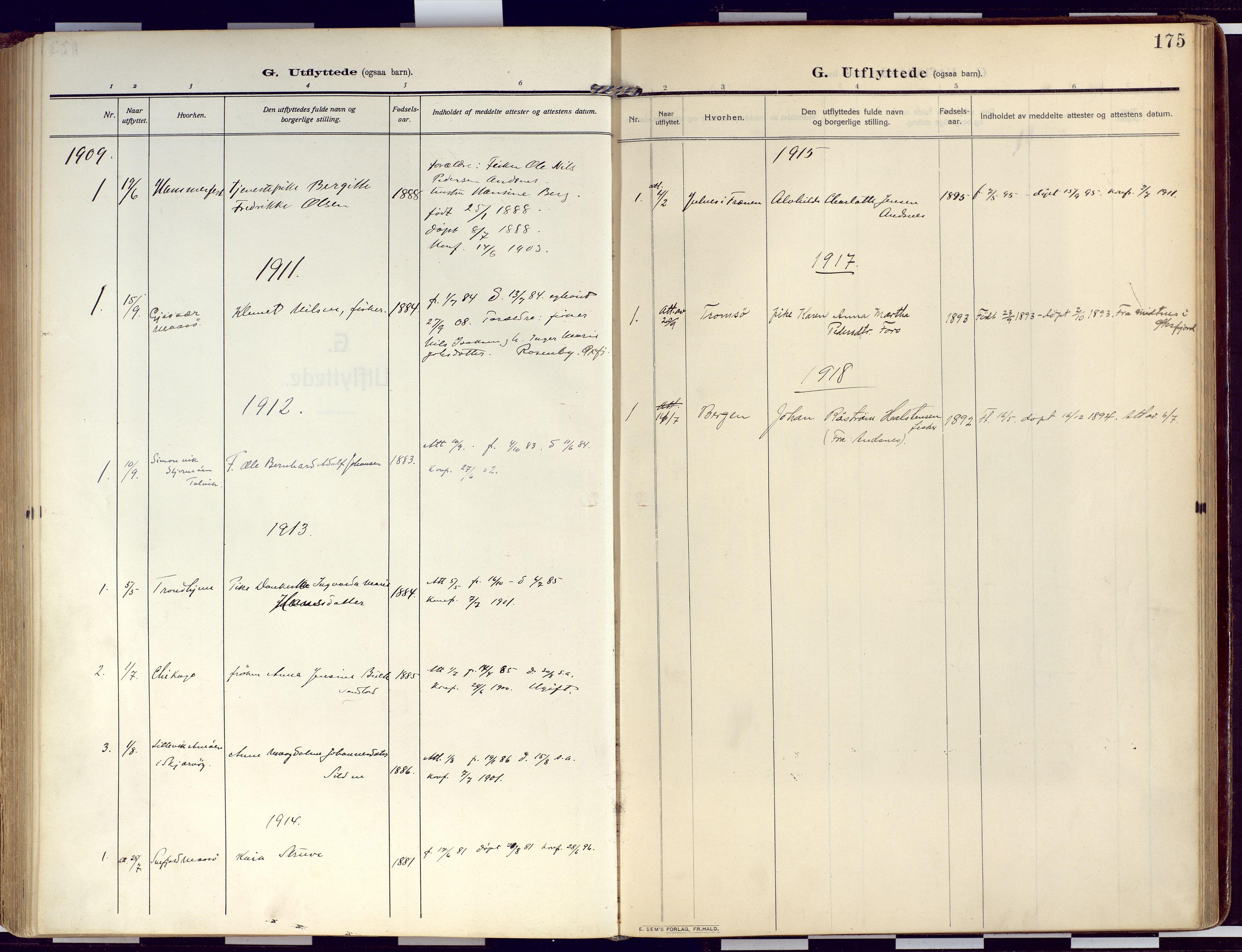 SATØ, Loppa sokneprestkontor, H/Ha/L0011kirke: Ministerialbok nr. 11, 1909-1919, s. 175
